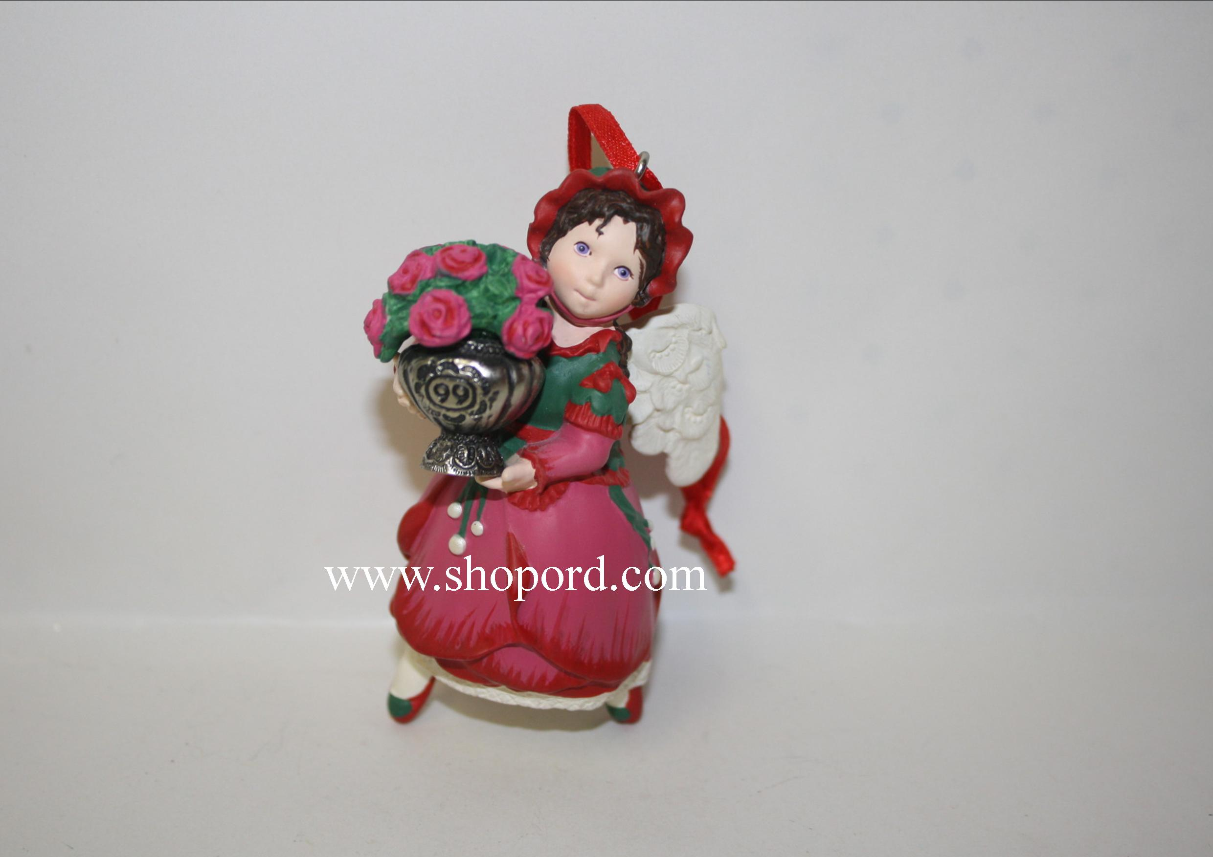 Hallmark 1999 Rose Angel Ornament 4th And Final In The Language Of Flowers Series QX6289