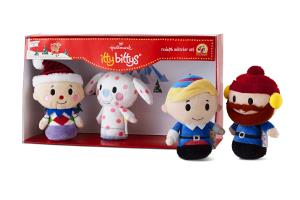 Hallmark itty bittys Rudolph The Red Nosed Reindeer Charlie Elephant Hermey Yukon Cornelius Plush Collector Set XKT1484