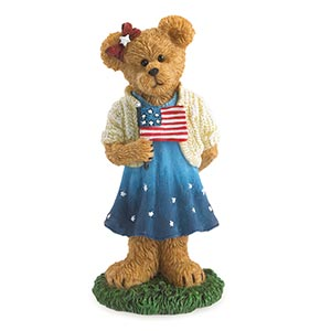 Boyds Sami Spangler Hooray For The Red White and Blue Figurine 4041887