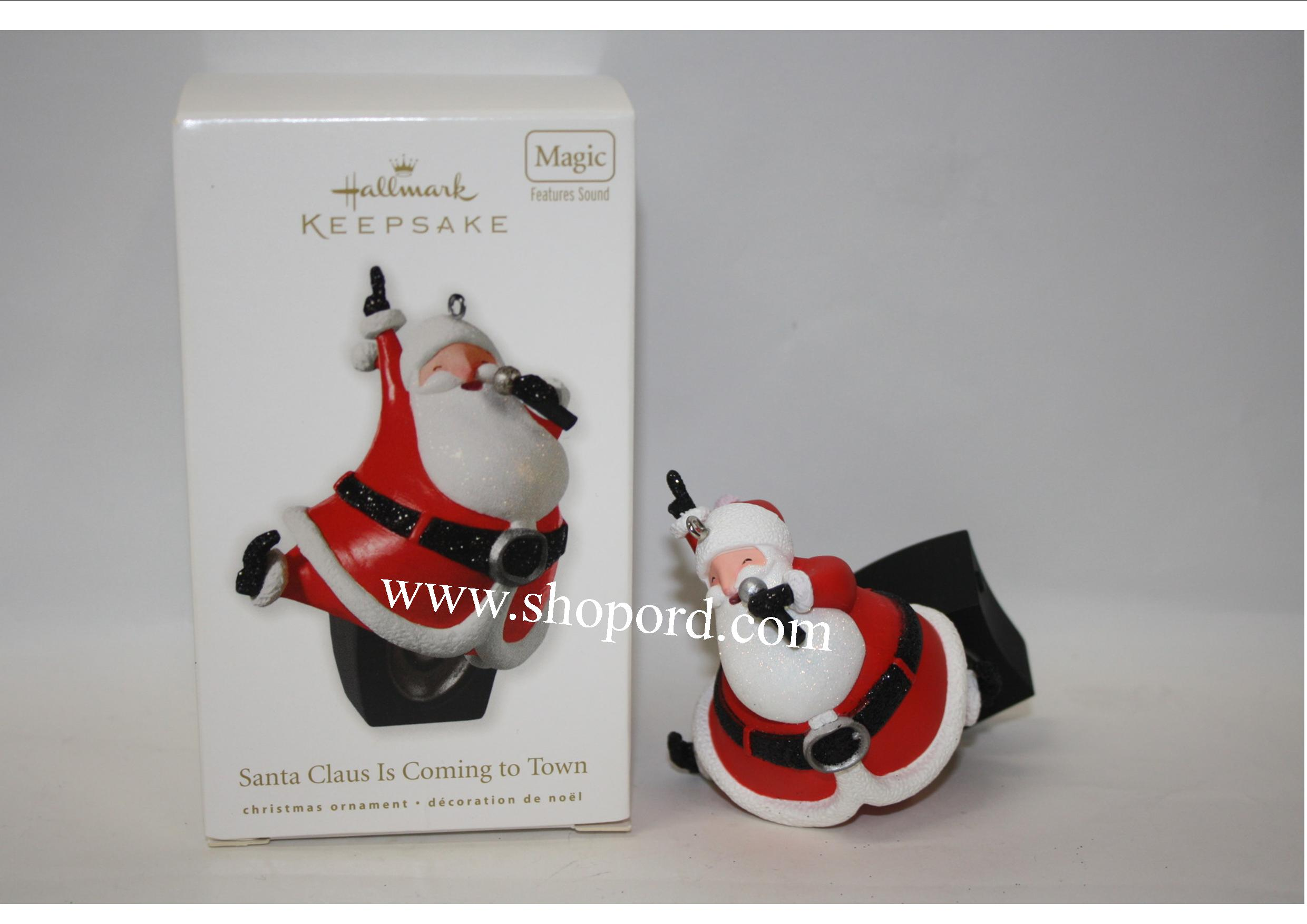 Hallmark 2010 Santa Claus Is Coming to Town Ornament QXG3056