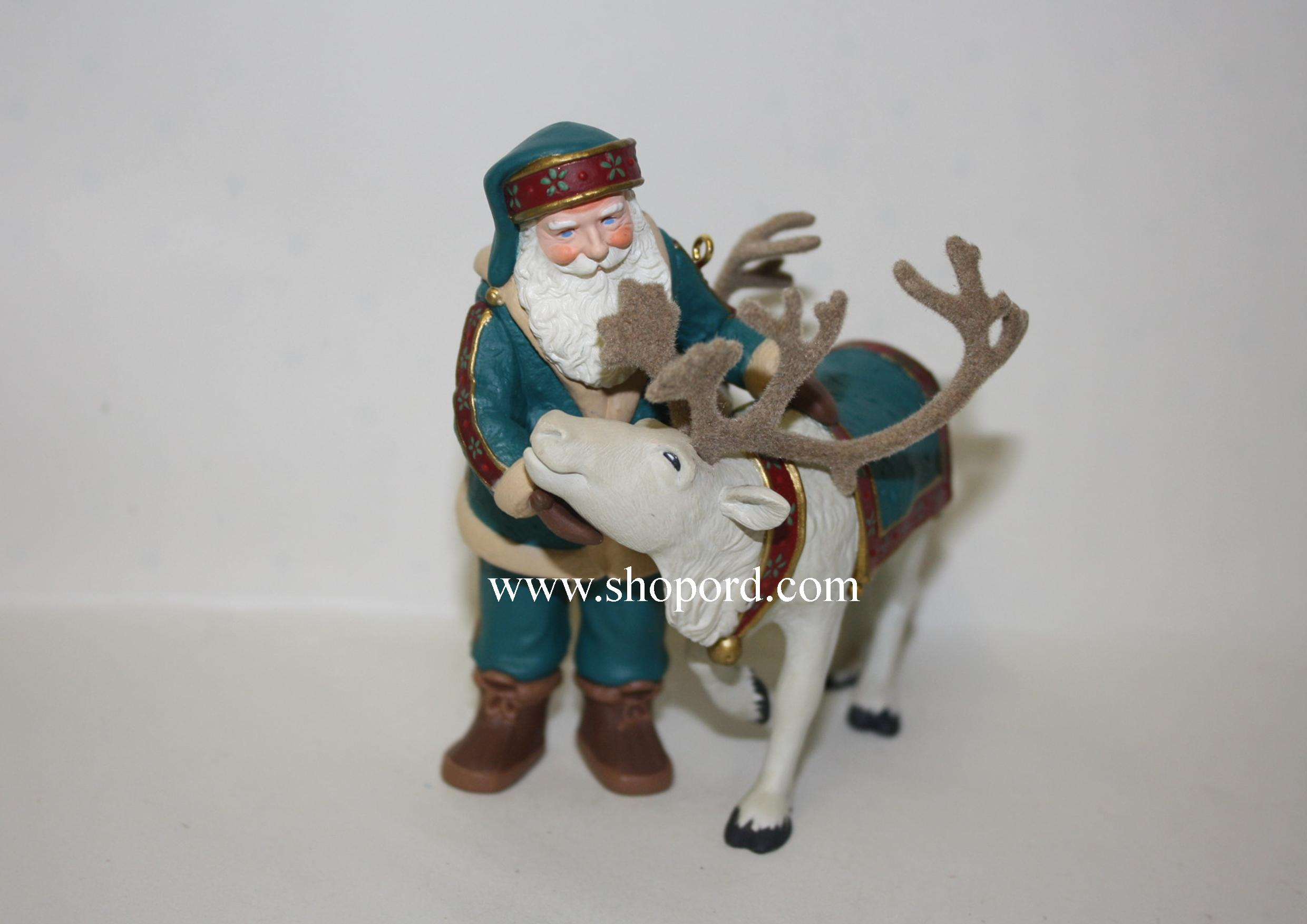Hallmark 1998 Santas Deer Friend Ornament QX6583