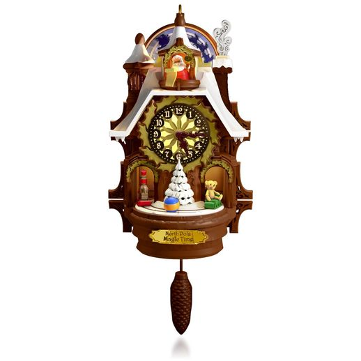 Hallmark 2015 Santas Magic Cuckoo Clock Ornament QGO1367 (Requires Magic Cord, Sold Separately)