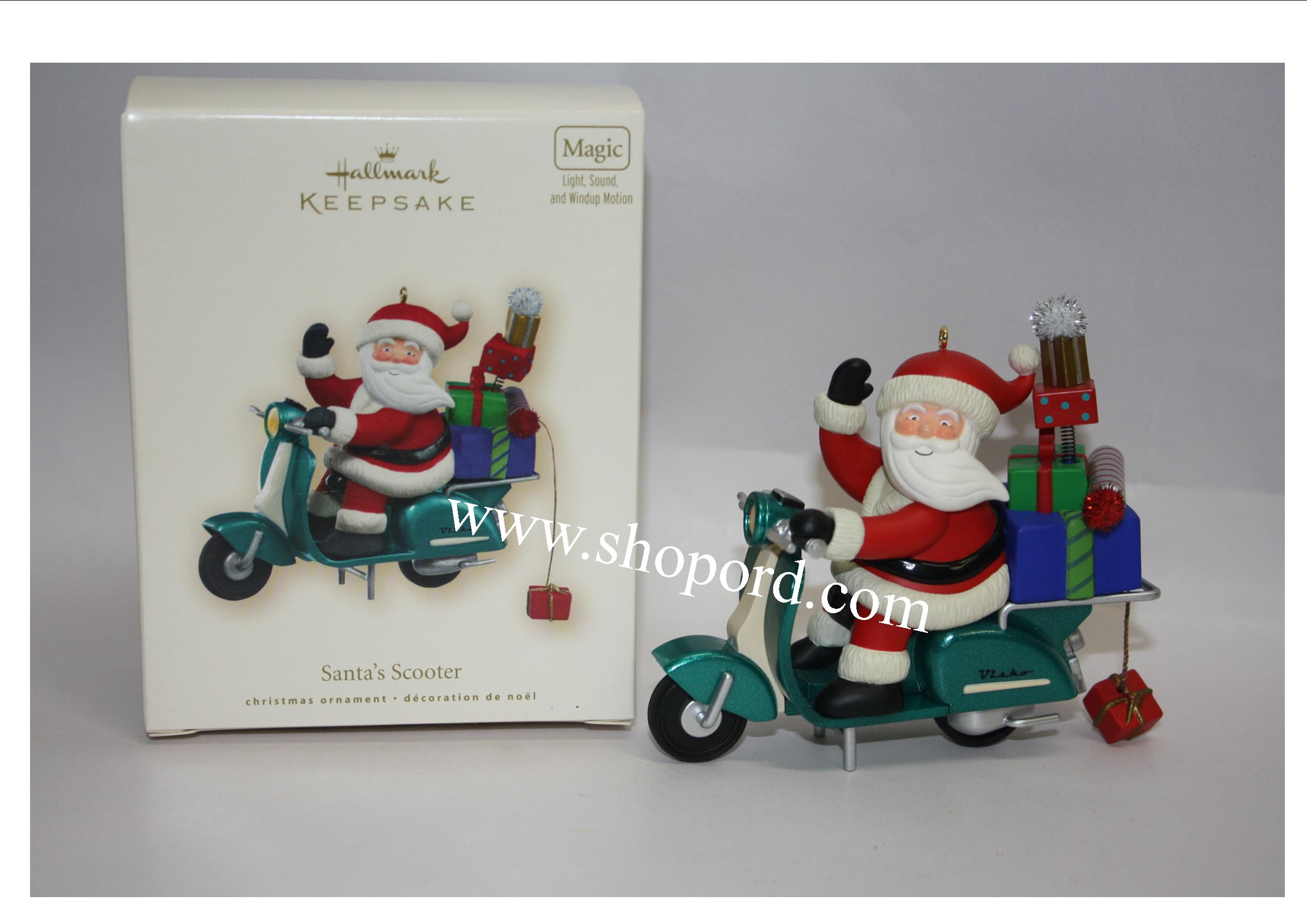 Hallmark 2007 Santas Scooter Magic Ornament QXG7569