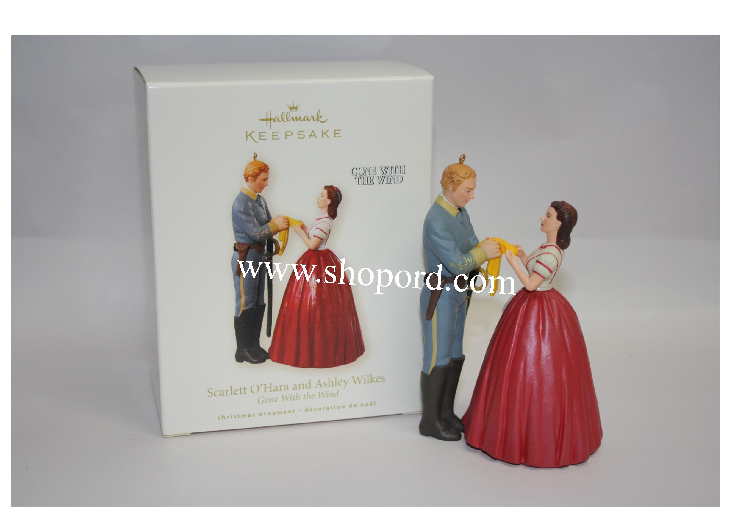 Hallmark 2008 Scarlett OHara and Ashley Wilkes Ornament Gone With The Wind QXI4141