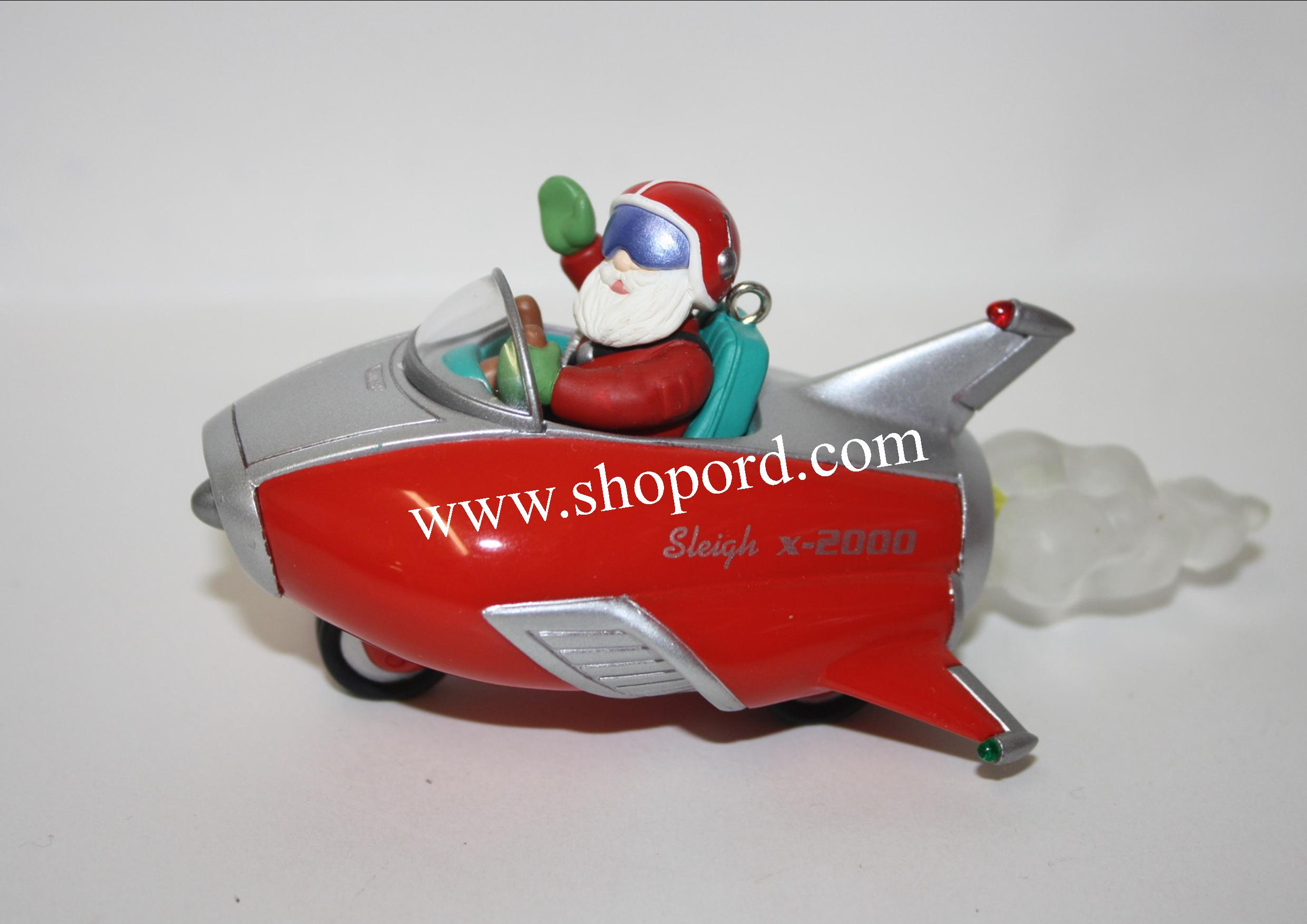 Hallmark 2000 Sleigh X 2000 Here Comes Santa Ornament 22nd In The Series QX6824