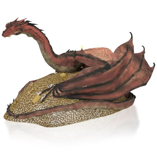 Hallmark 2015 Smaug Awakens Ornament The Hobbit The Desolation Of Smaug QXI2257 Slightly Crease On Box