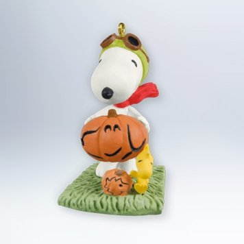 Hallmark 2012 Snoopy and Woodstock oLanterns Halloween Ornament The Peanuts Gang QFO5211