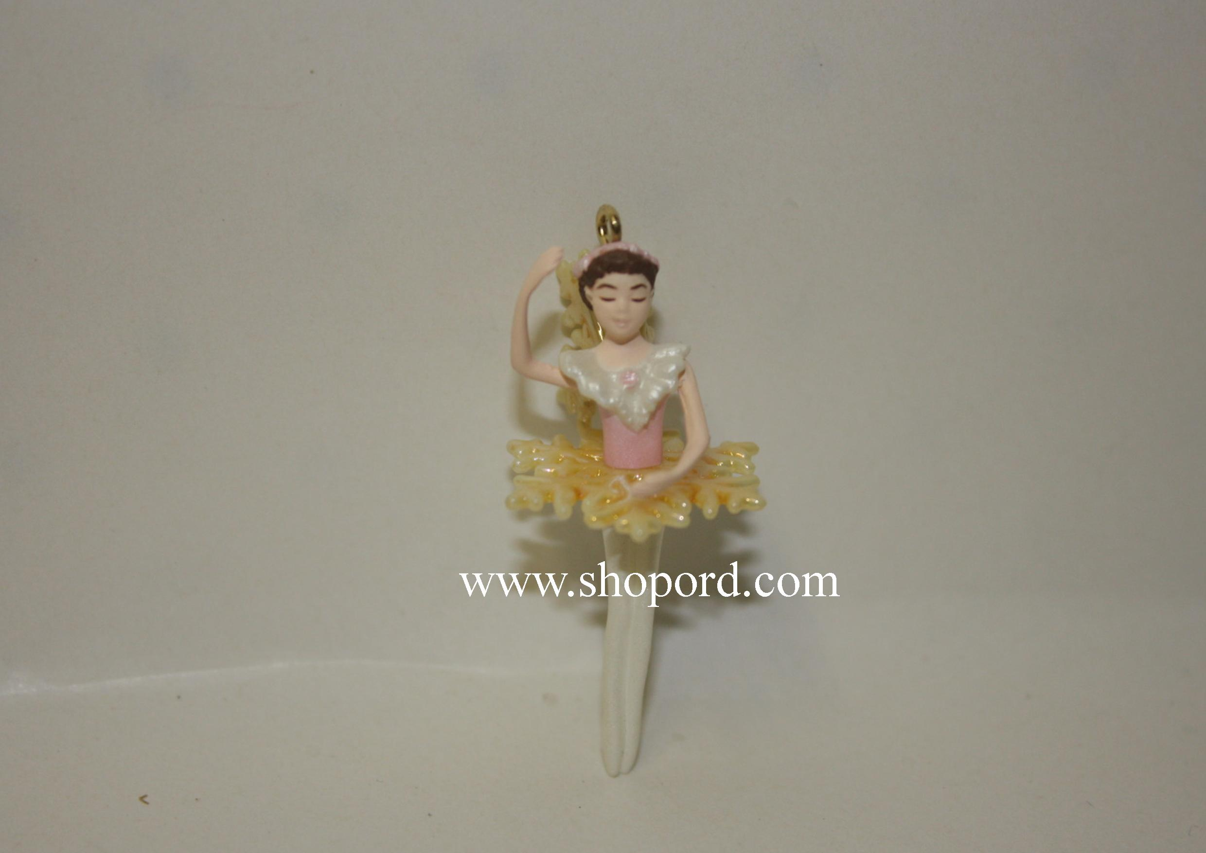 Hallmark 1999 Snowflake Ballet Miniature Ornament 3rd and Final In Series QXM4569