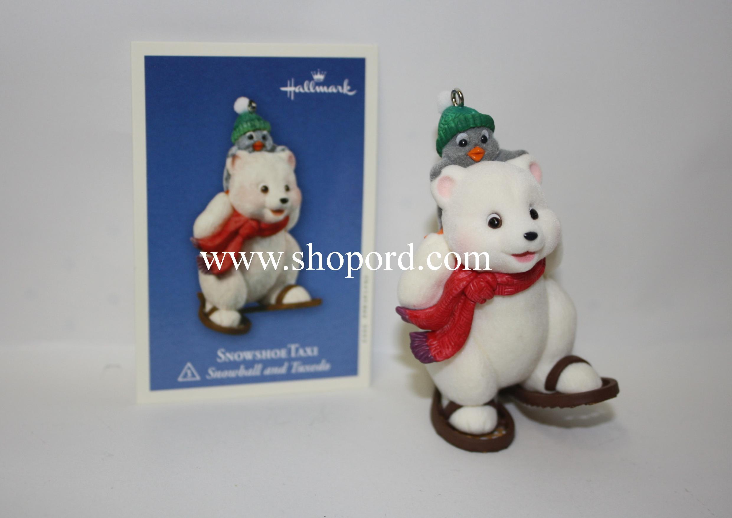 Hallmark 2003 Snowshoe Taxi Ornament 3rd in the Snowball and Tuxedo Series QX8227