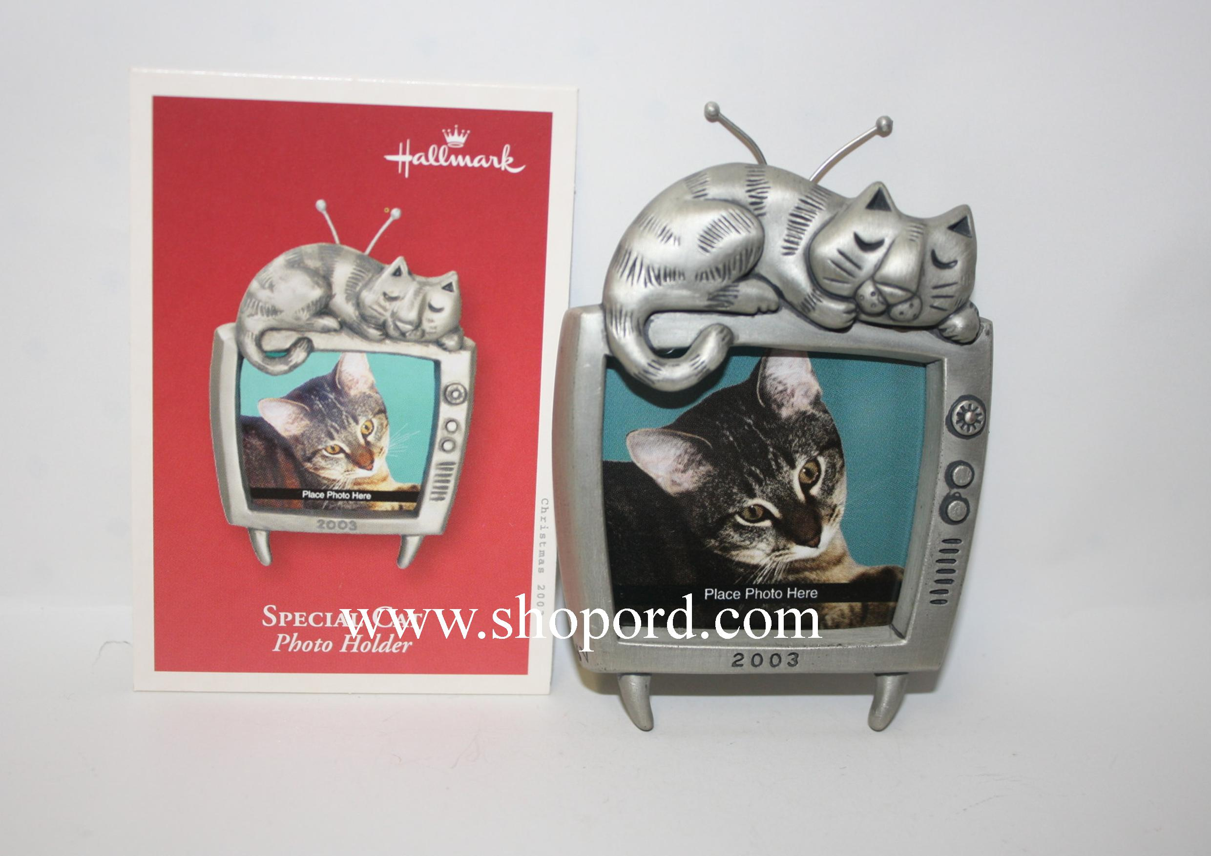 Hallmark 2003 Special Cat Ornament Photo Holder QXG8609