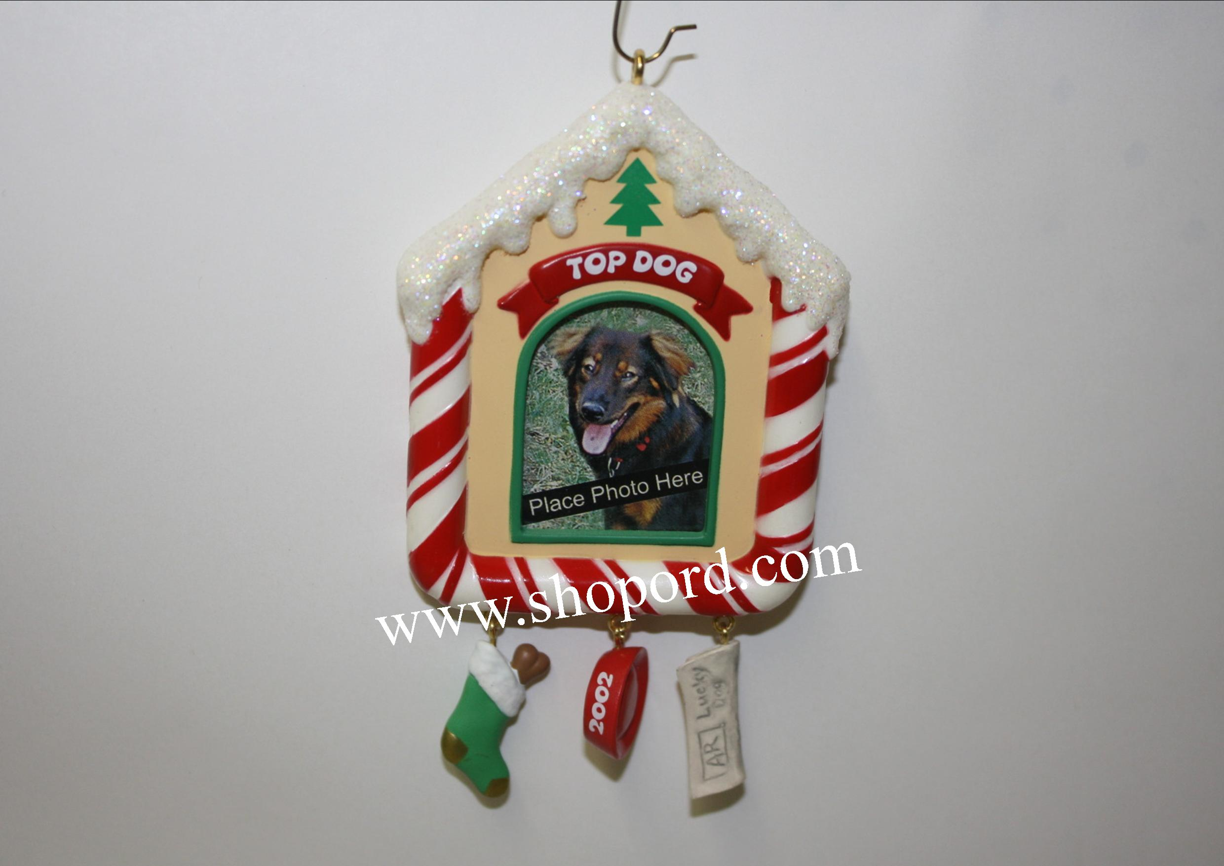 Hallmark 2002 Special Dog Photo Holder Ornament QX8716