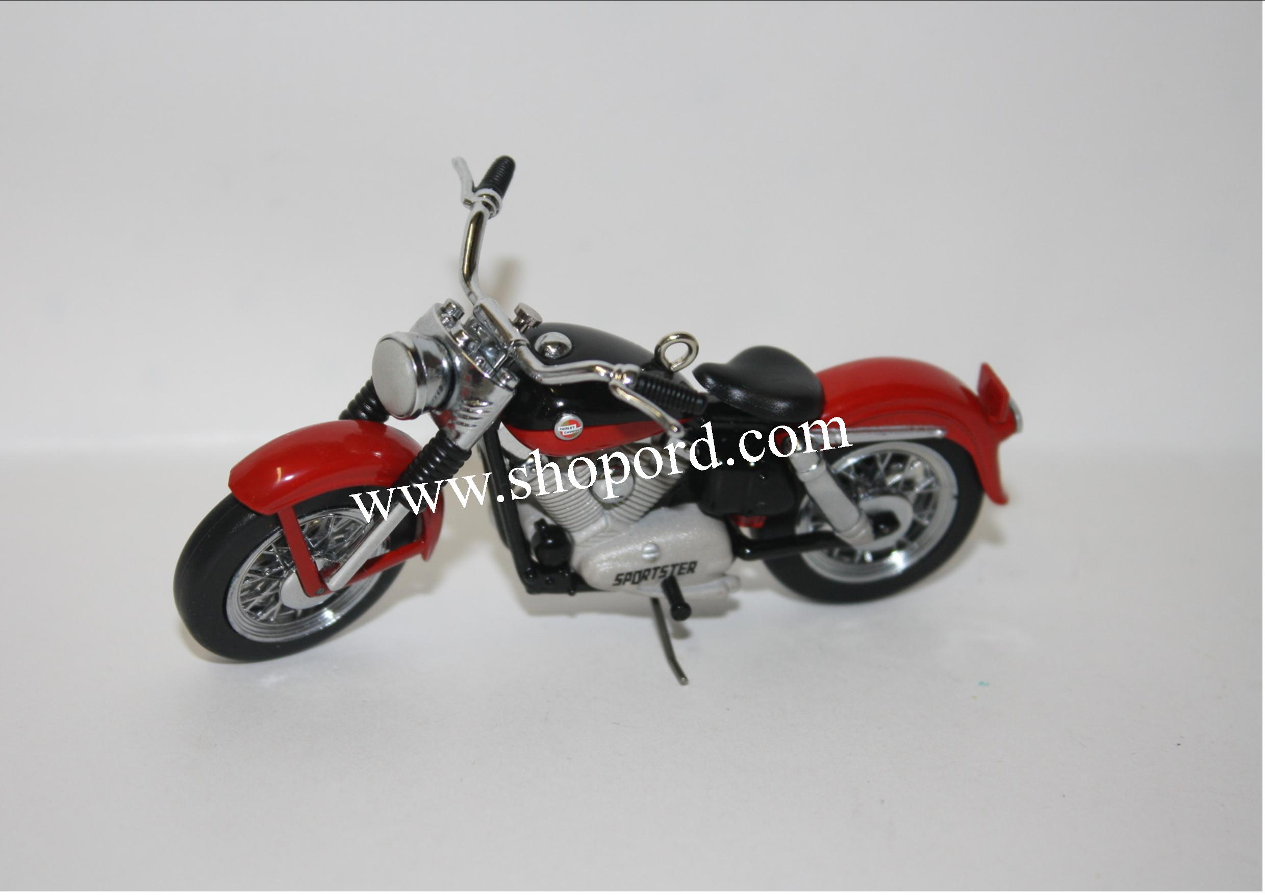 Hallmark 2001 XL 1957 Sportster 3rd In The Harley-Davidson Motorcycle Milestones Series QX8125 Damaged Box