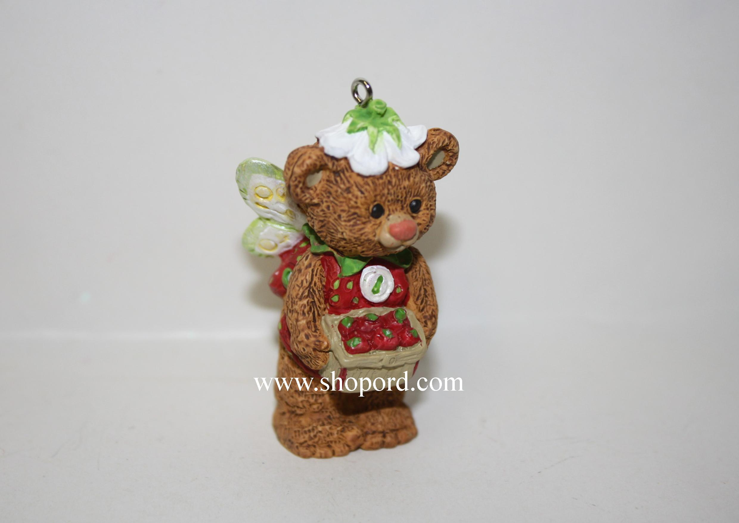 Hallmark 1999 Strawberry Spring Ornament Fairy Berry Bears 1st In The Series QEO8369 Damaged Box
