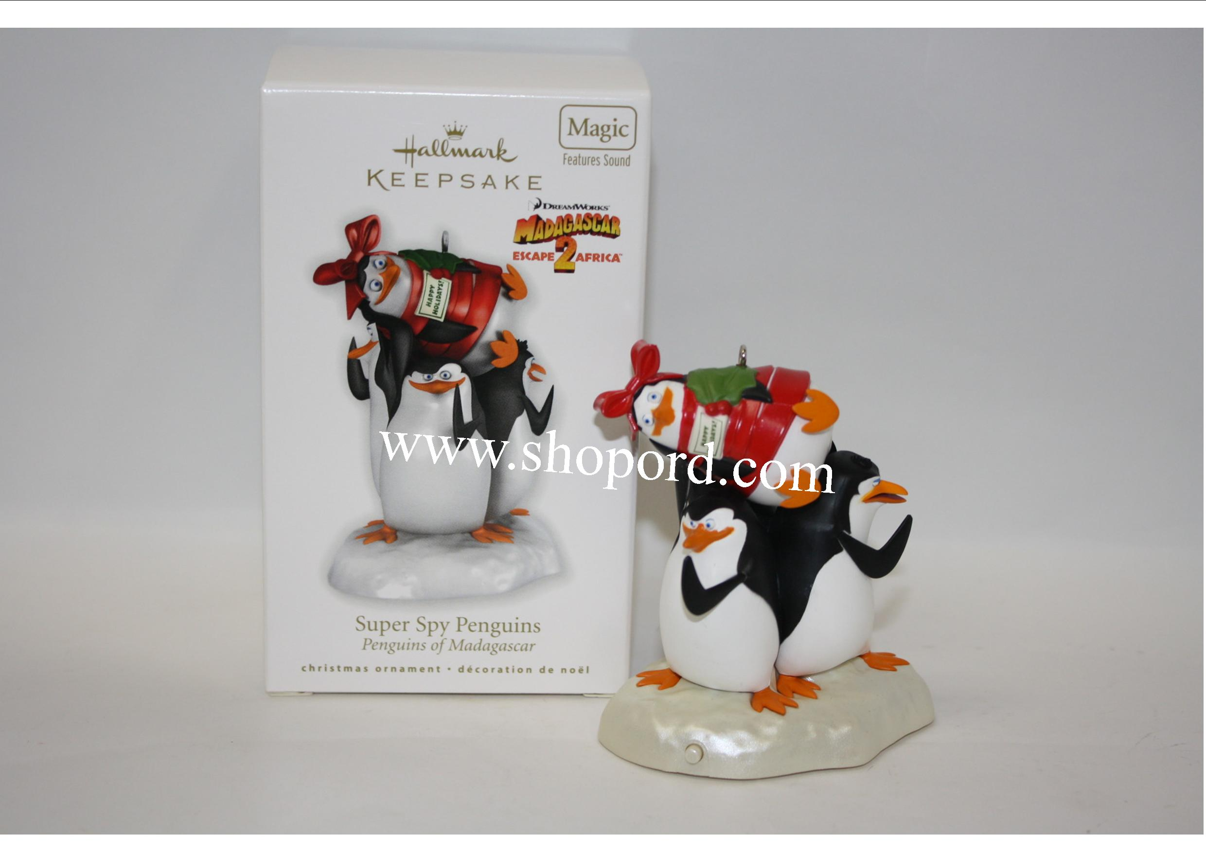 Hallmark 2010 Super Spy Penguins Penguins of Madagascar Ornament QXI2356 Box Damaged