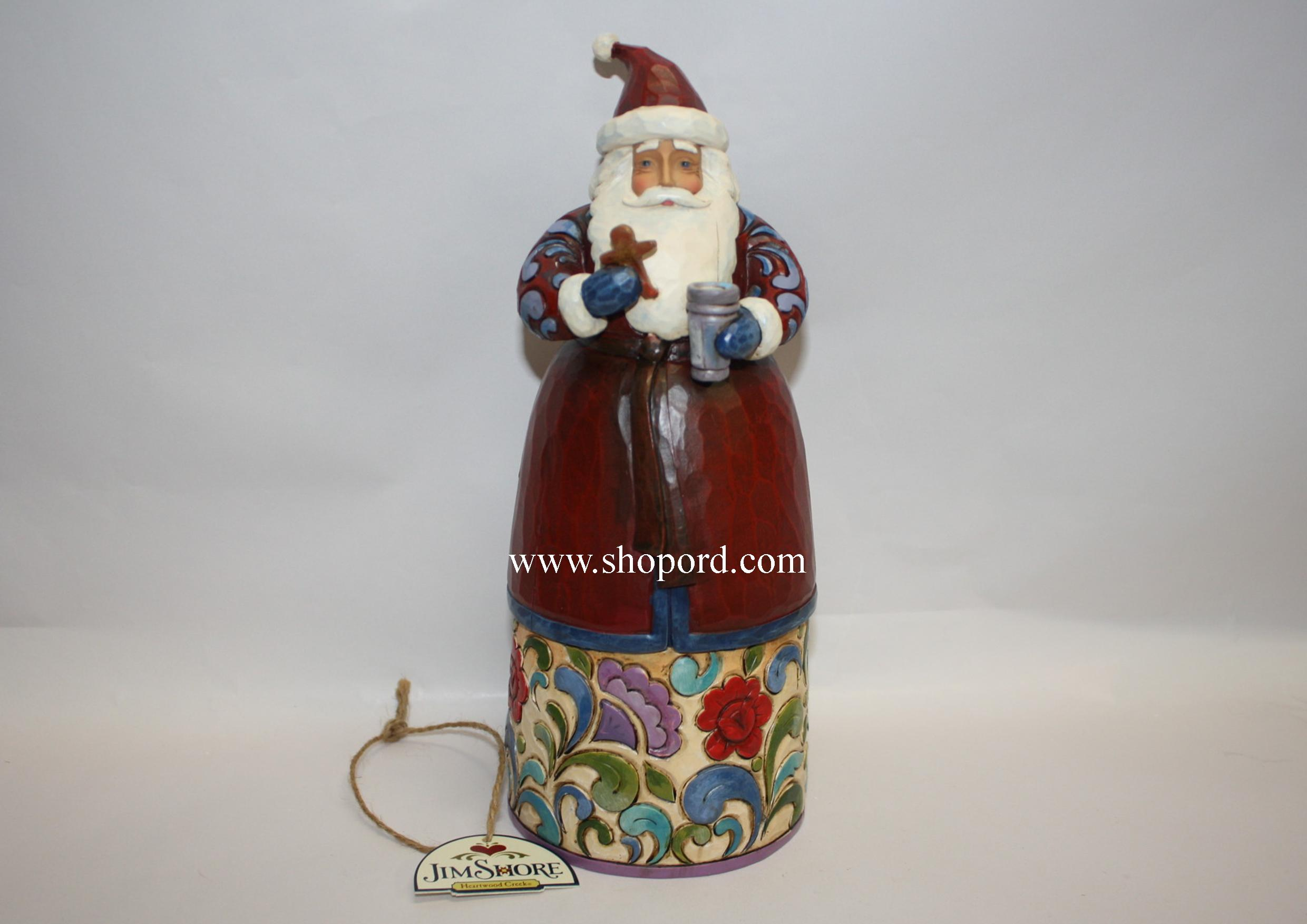 Jim Shore Sweet Greetings Santa with Milk and Cookie Figurine 4014449