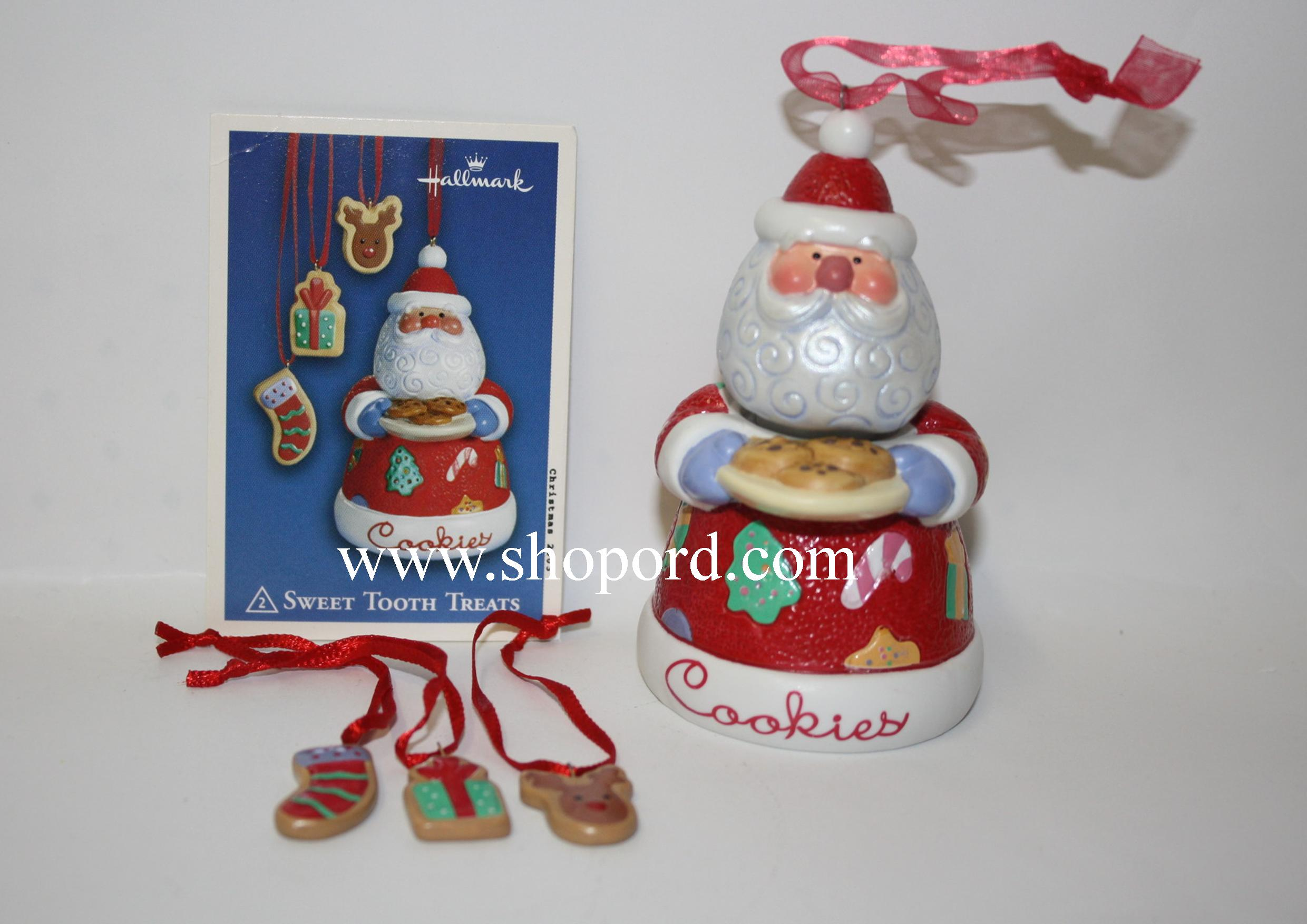 Hallmark 2003 Sweet Tooth Treats set of 4 Ornament 2nd in the series QX8199 Box Slightly Bent