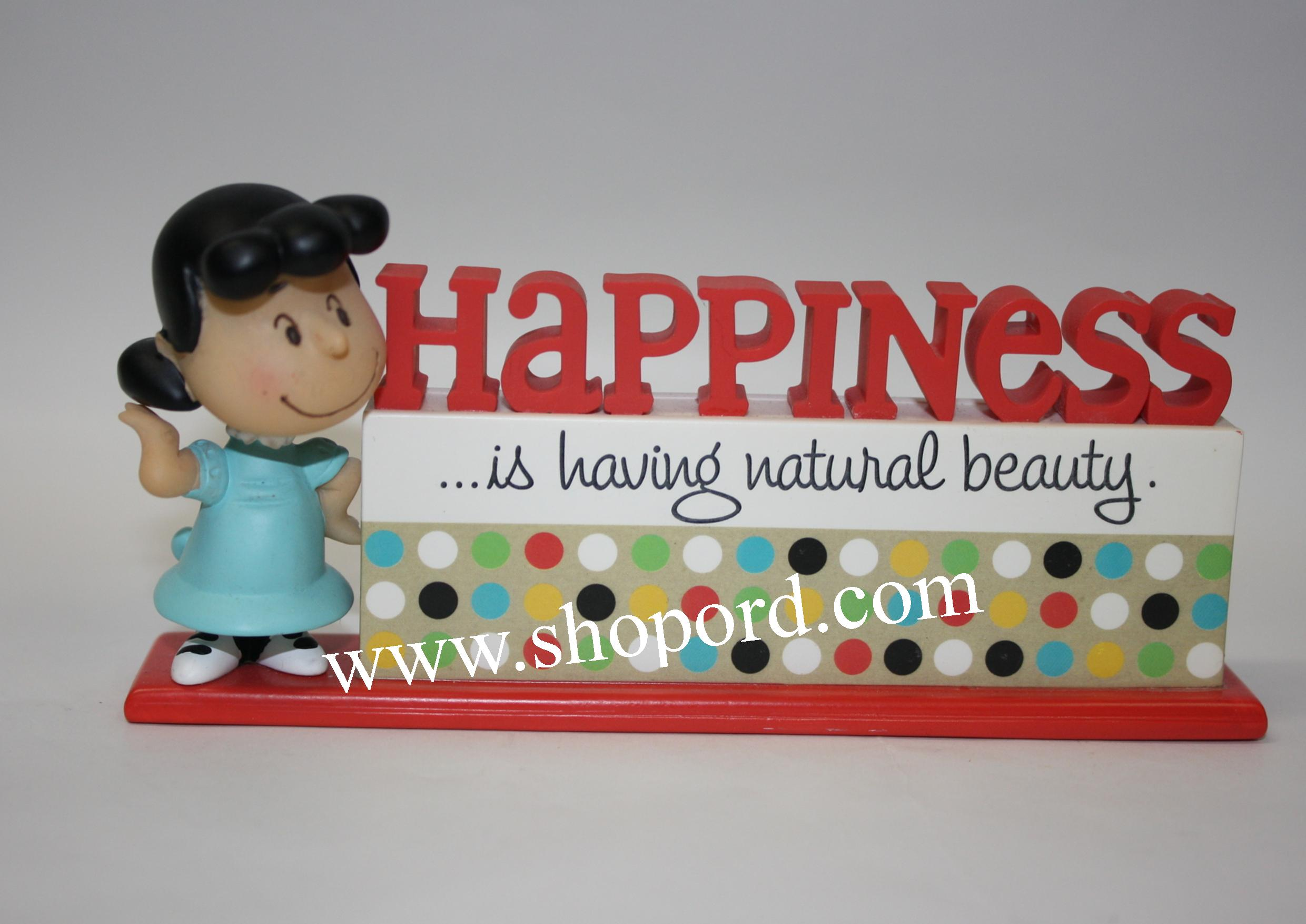 Hallmark Peanuts 60th Anniversary Happiness Table Decoration Lucy PAJ3315