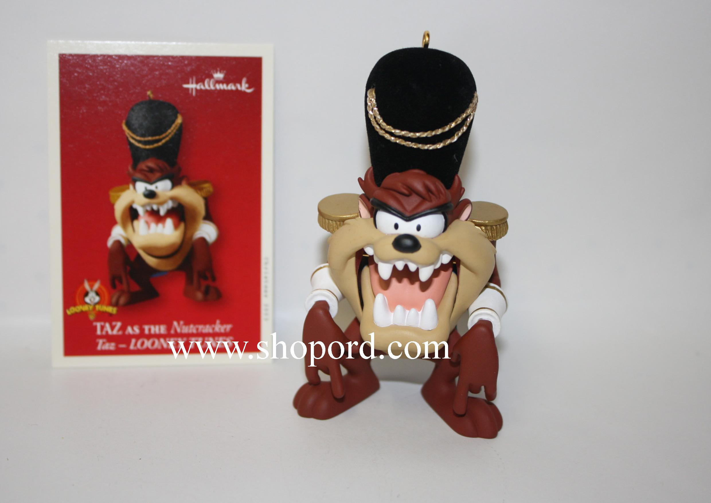 Hallmark 2003 Taz As The Nutcracker Ornament Looney Tunes QXI8269 Box Slightly Bent