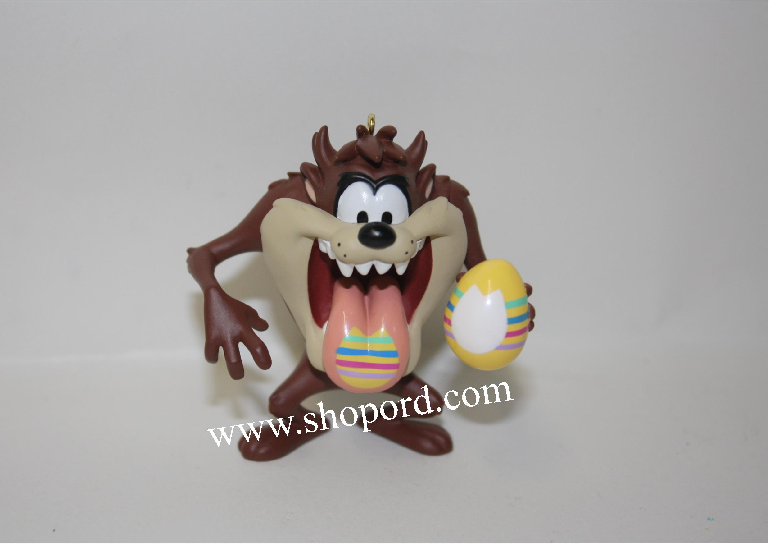 Hallmark 2001 Taz Paint Egg Looney Tunes Spring Ornament QEO8572