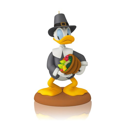 Hallmark 2014/2015 Thankful Donald Disney Ornament 4th in the monthly series QHA1025