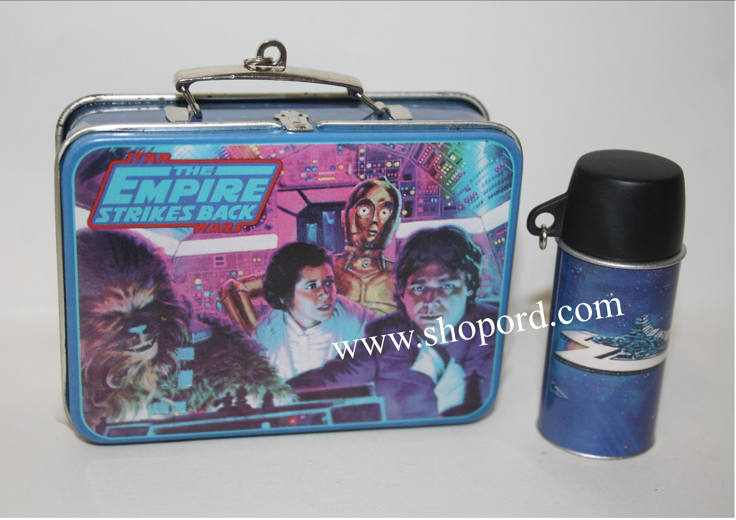 Hallmark 2001 The Empire Strikes Back Lunch Box And Drink Container  set of 2 Spring Ornament Star Wars QEO8585