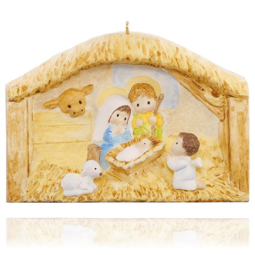 Hallmark 2015 The First Christmas Nativity Book Ornament QGO1429