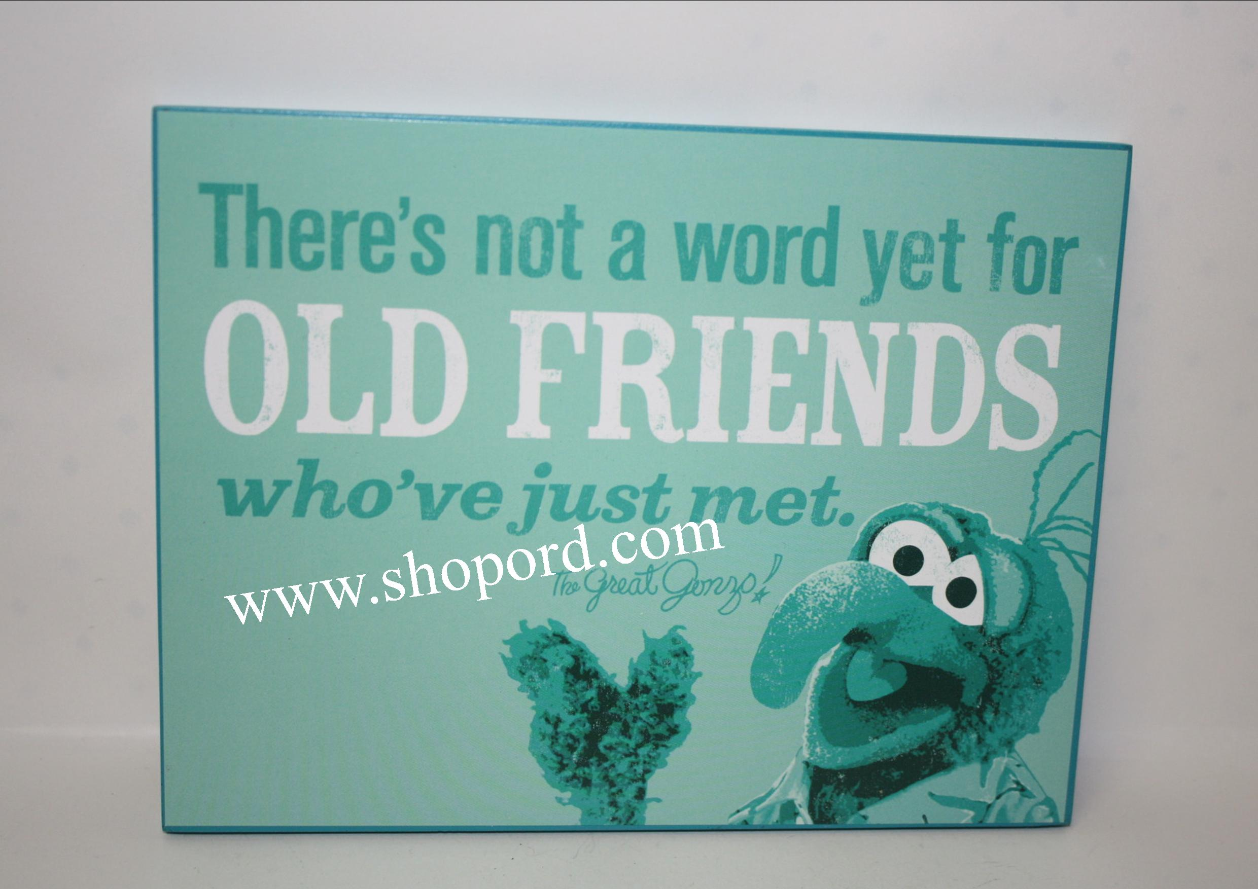 Hallmark The Muppets The Great Gonzo There's Not A Word Yet For Old Friends Wall Art MUP5018