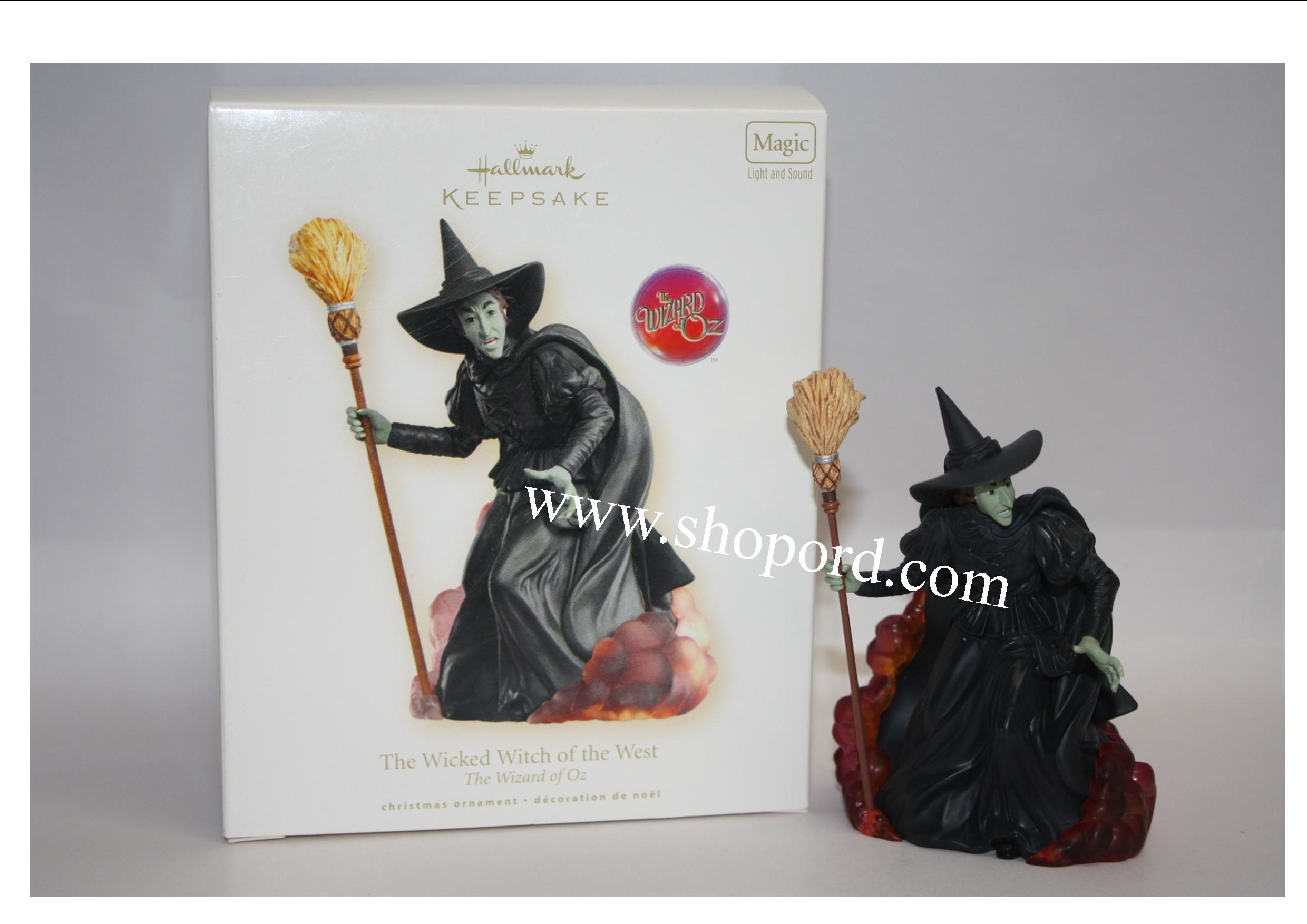 Hallmark 2007 The Wicked Witch of the West The Wizard of Oz Magic Ornament QXI4119