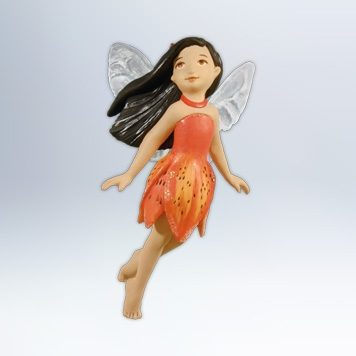 Hallmark 2012 Tiger Lily Fairy Ornament 8th in the Fairy Messengers series QX8071