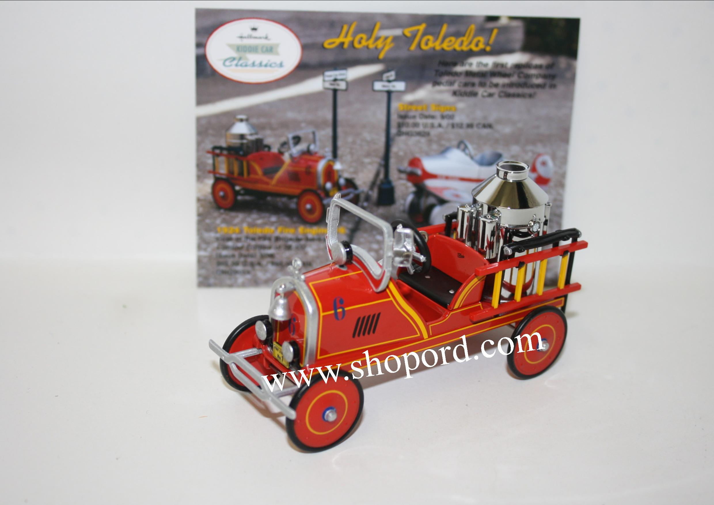 Hallmark 2000 Toledo 1924 Fire Engine #6 Ornament 7th In the Kiddie Car Classics Series QX6691