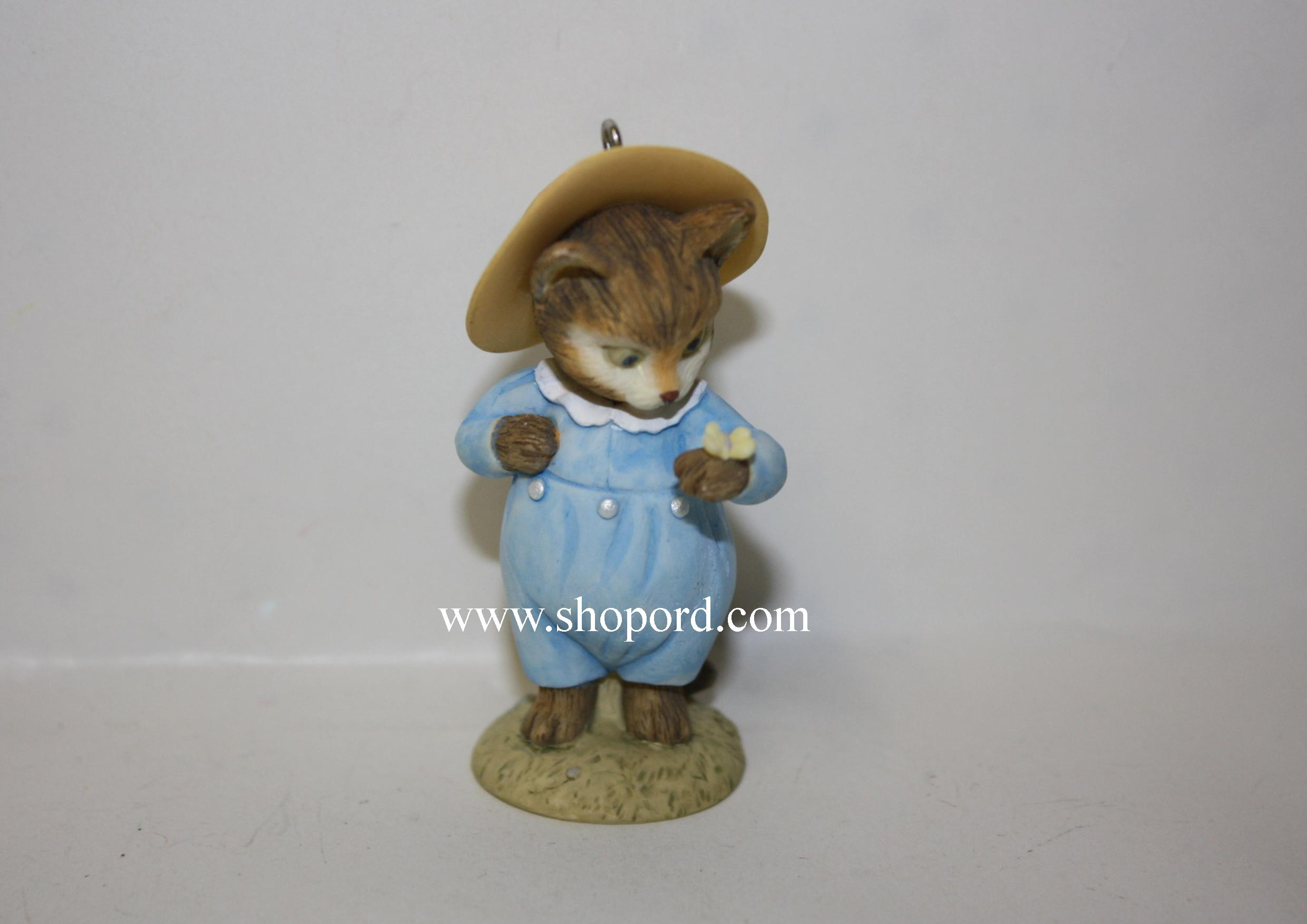 Hallmark 1999 Tom Kitten Beatrix Potter Spring Ornament 4th In Series QEO8329 Damaged Box