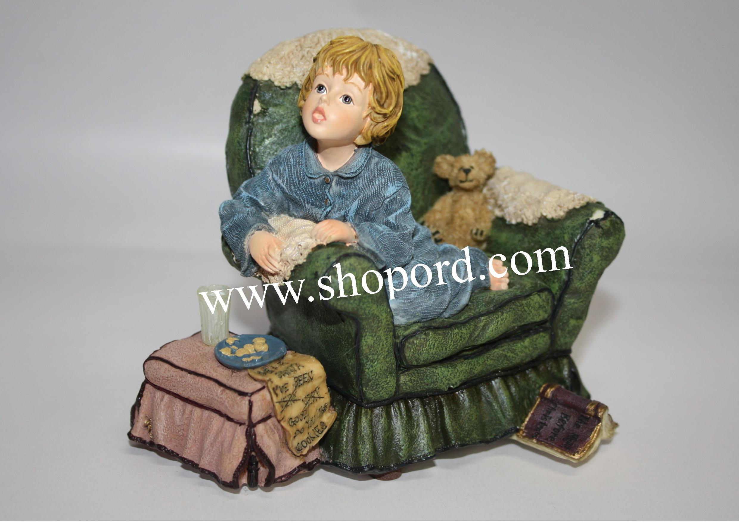 "Boyds Yesterdays Child - Tricia (Waiting for Santa) Windup: plays ""Here Comes Santa Claus"" #272004"