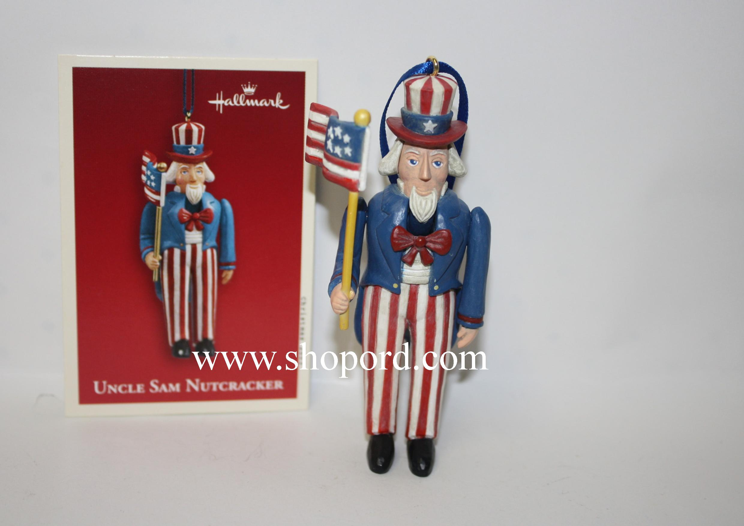 Hallmark 2003 Uncle Sam Nutcracker Ornament QXG2489