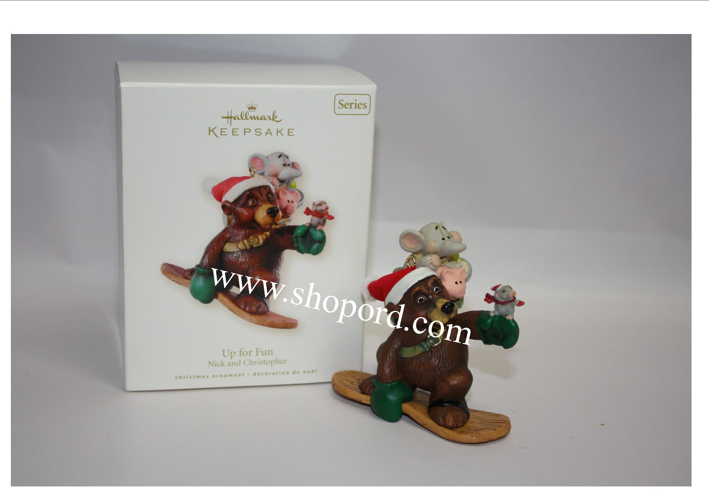 Hallmark 2008 Up for Fun Ornament 5th in Nick and Christopher series QX7171