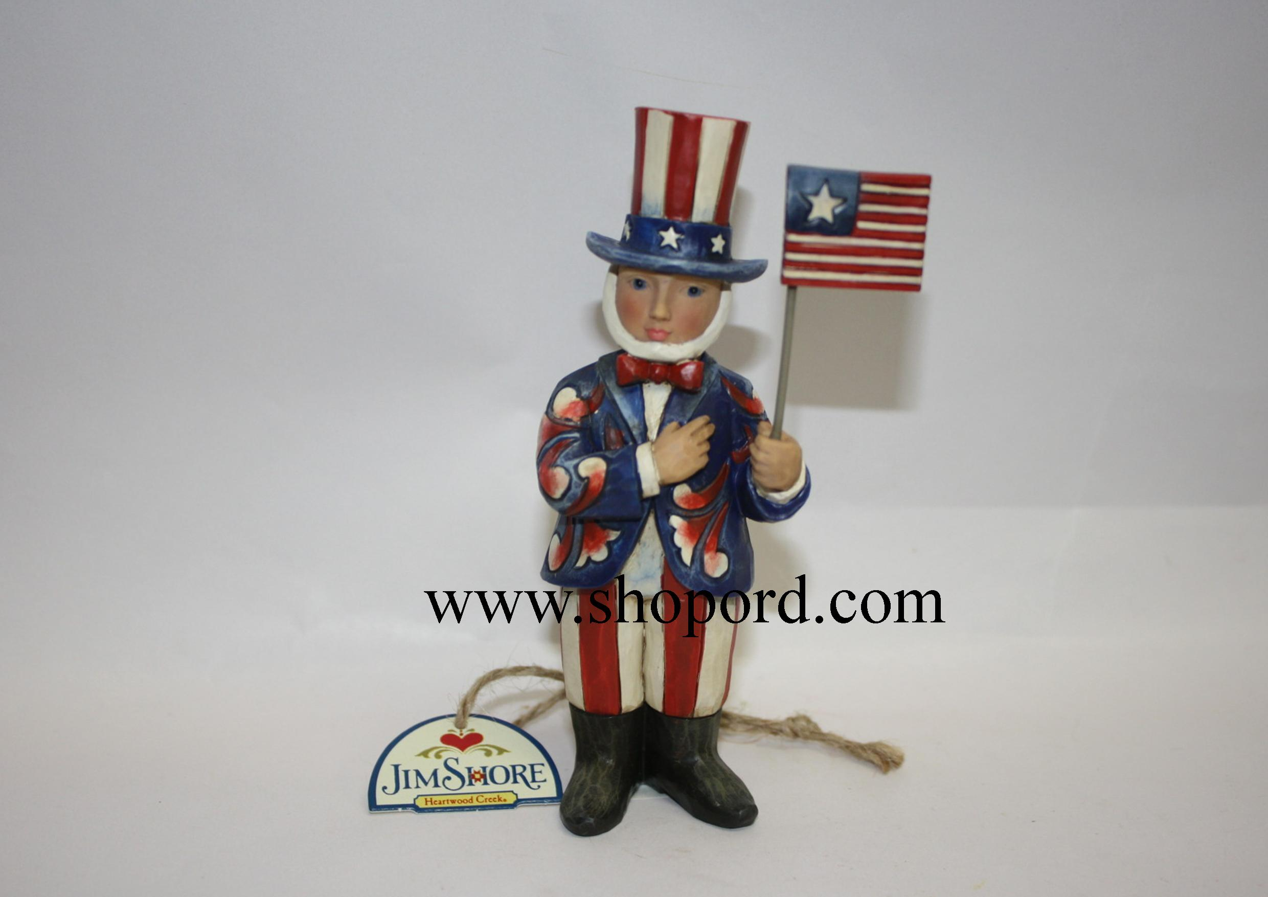 Jim Shore Waves Of Patriotism Pint Sized Uncle Sam Figurine 4031203