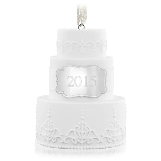 Hallmark 2015 Wedding Cake Ornament QHX1167