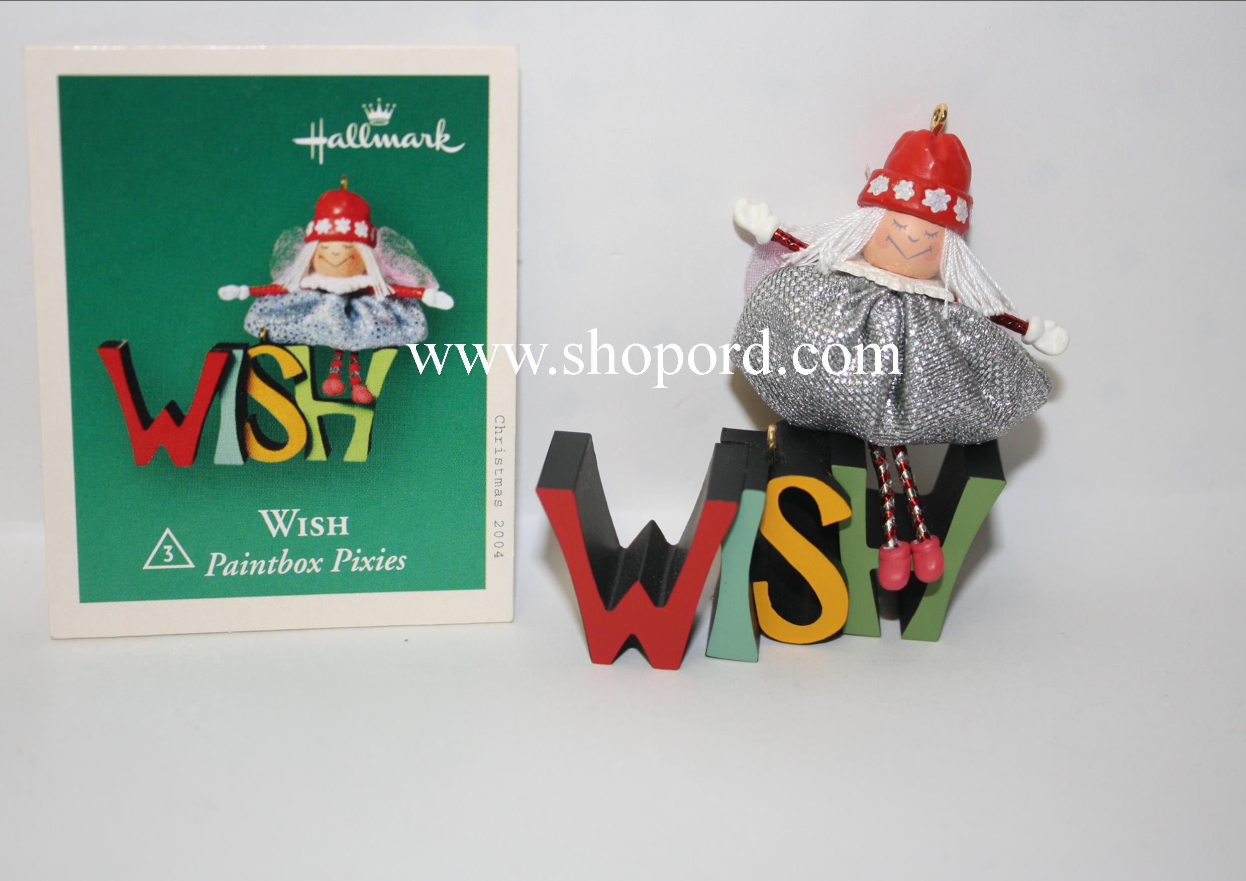 Hallmark 2004 Wish Paintbox Pixies set of 2 Miniature Ornament 3rd and final in the series QXM5174