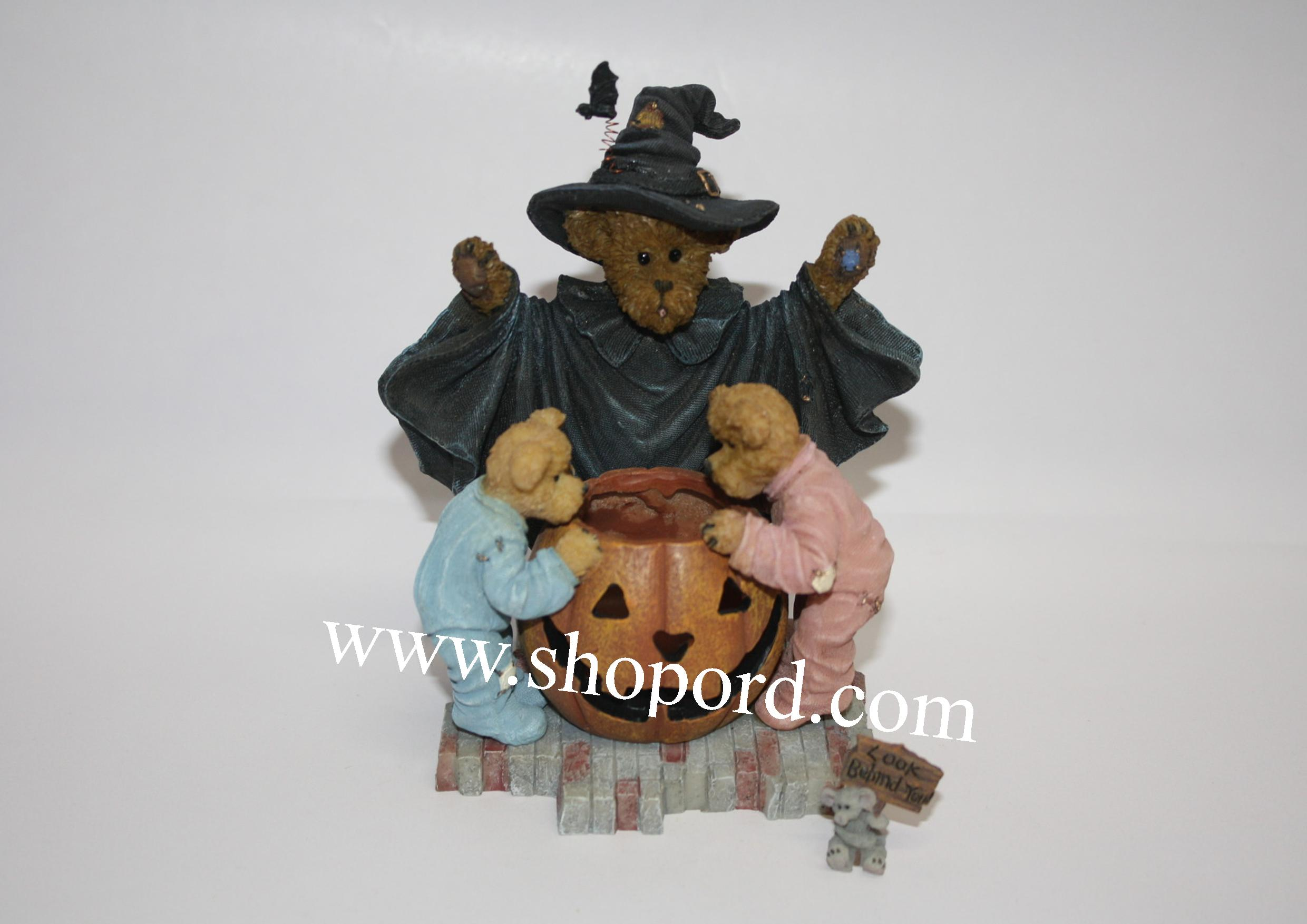 Boyds The Bearstone Collection - Witchella with Peek, Boo and Nibbley (I'm Gonna Get Ya) #4022267