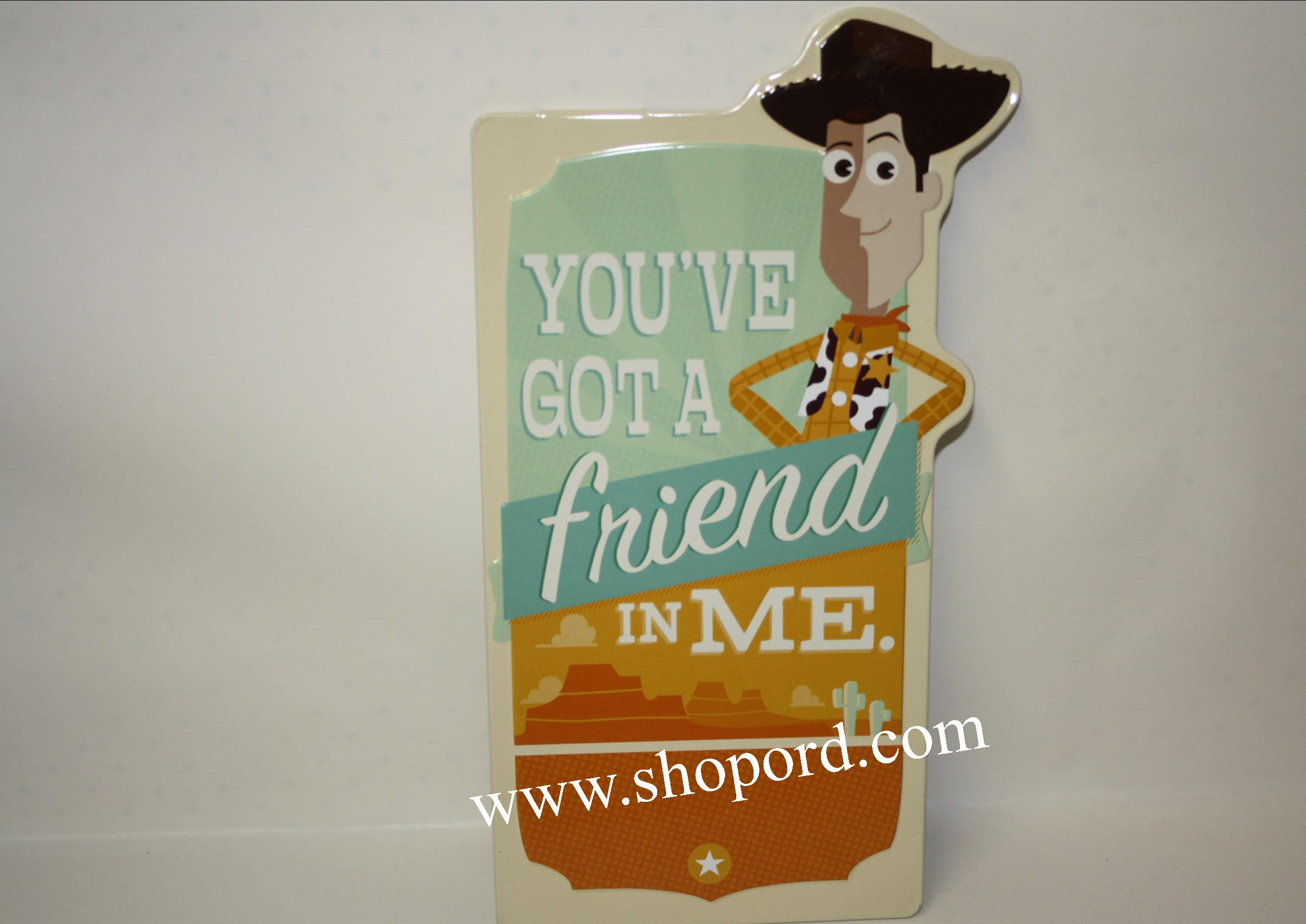 Hallmark Woody You've Got A Friend In Me Tin Sign Toy Story PIX2008