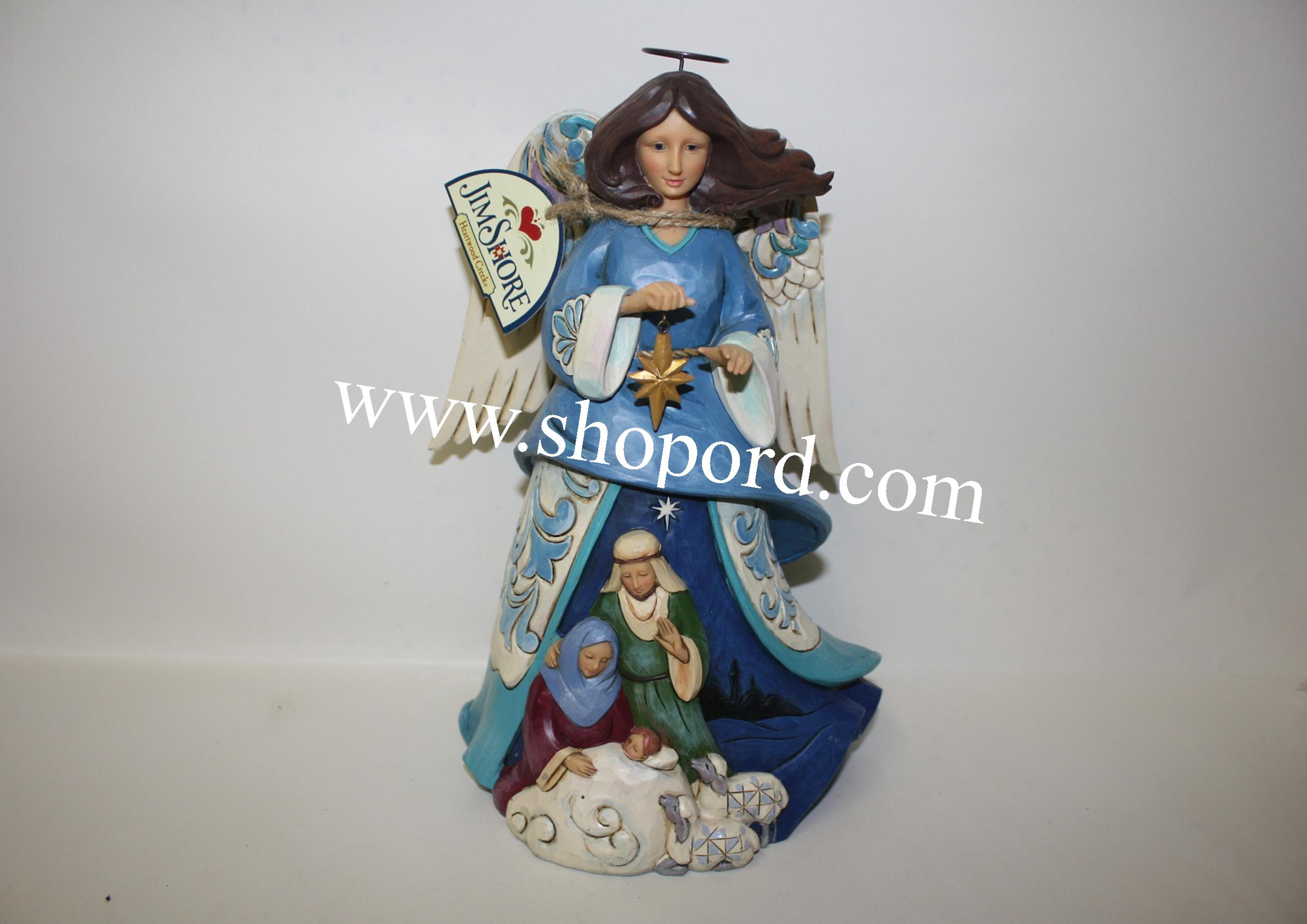 Jim Shore Wrapped In Holy Love Nativity Angel Figurine 4055127