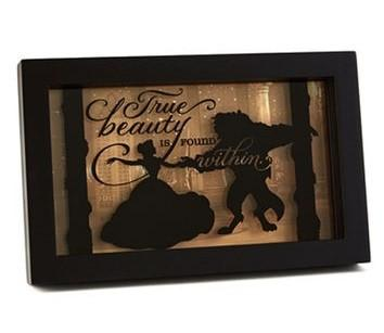 "Hallmark Disney Beauty and the Beast Framed ""Beauty is found within."""