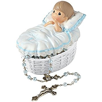 Precious Moments Baby Rosary Box with Rosary