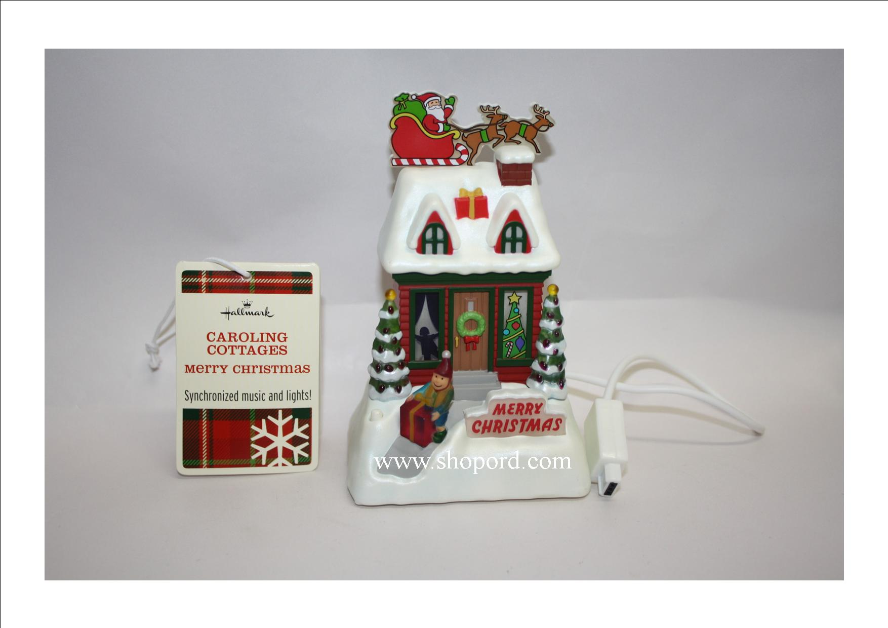 Hallmark Caroling Cottages Merry Christmas XLJ6023 (With Tag)