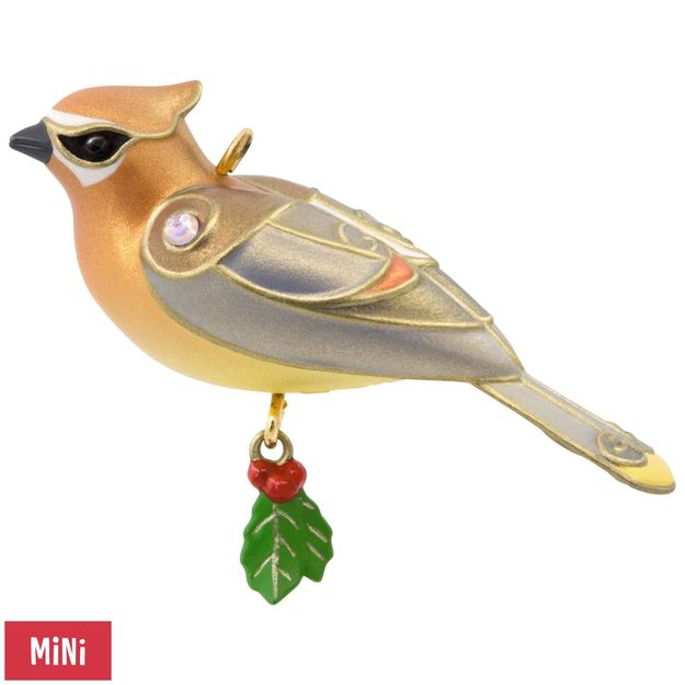 Hallmark 2017 Keepsake Cedar Waxwing Mini Ornament QXM8532