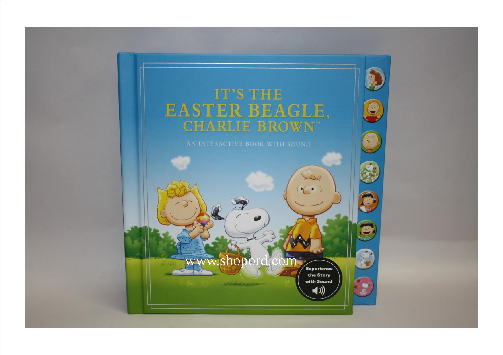 The Peanuts Gang Charlie Brown It's the Easter Beagle - With Sound and Music [Hardcover: by Charles M. Schulz] KOB8051