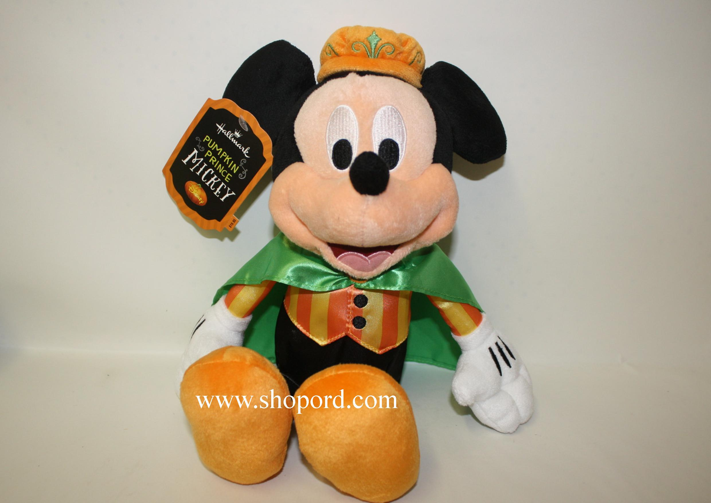 Hallmark Halloween Pumpkin Prince Mickey Mouse Plush Disney HGN1139