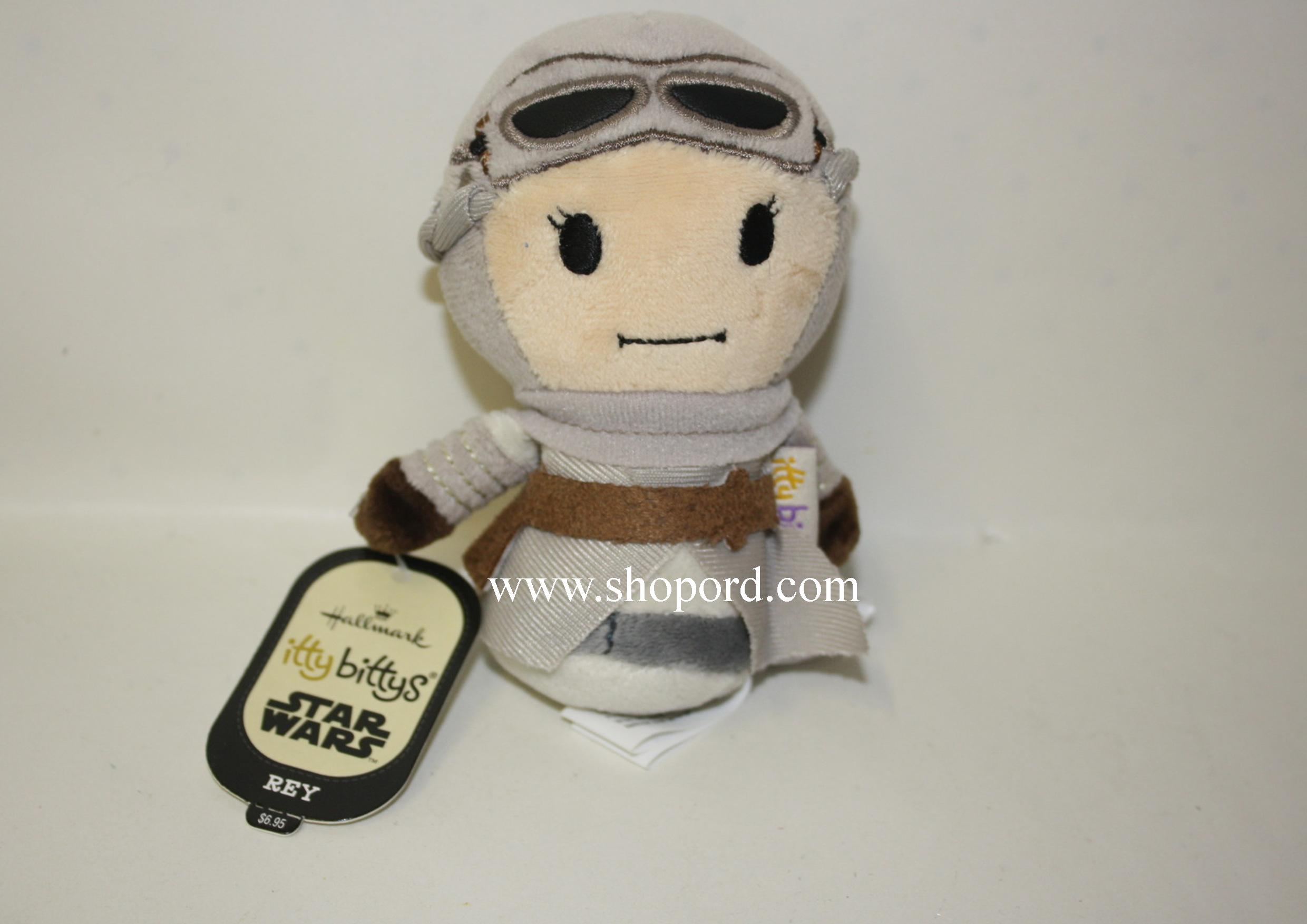 Hallmark itty bitty Rey Star Wars Disney Plush KDD1074