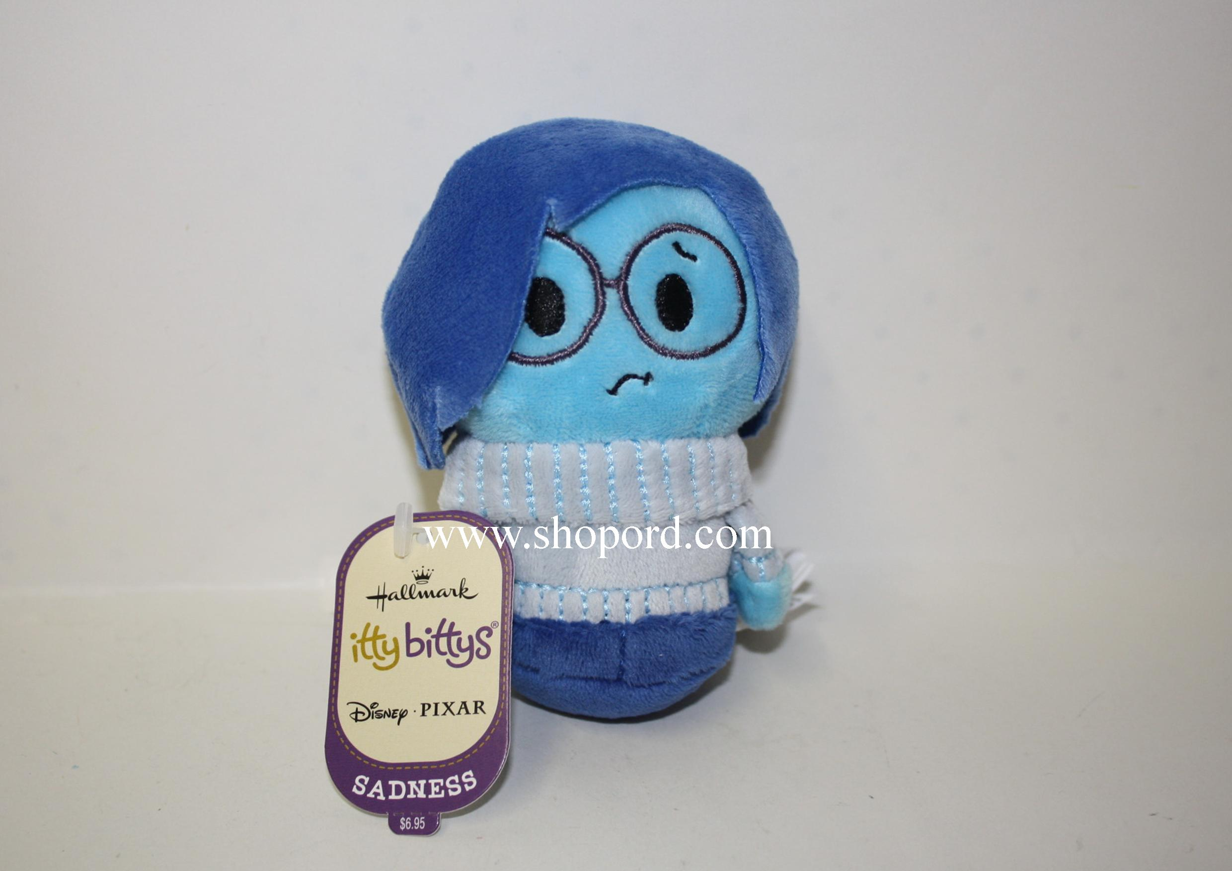 Hallmark itty bitty Sadness Disney Inside Out Plush KID3370