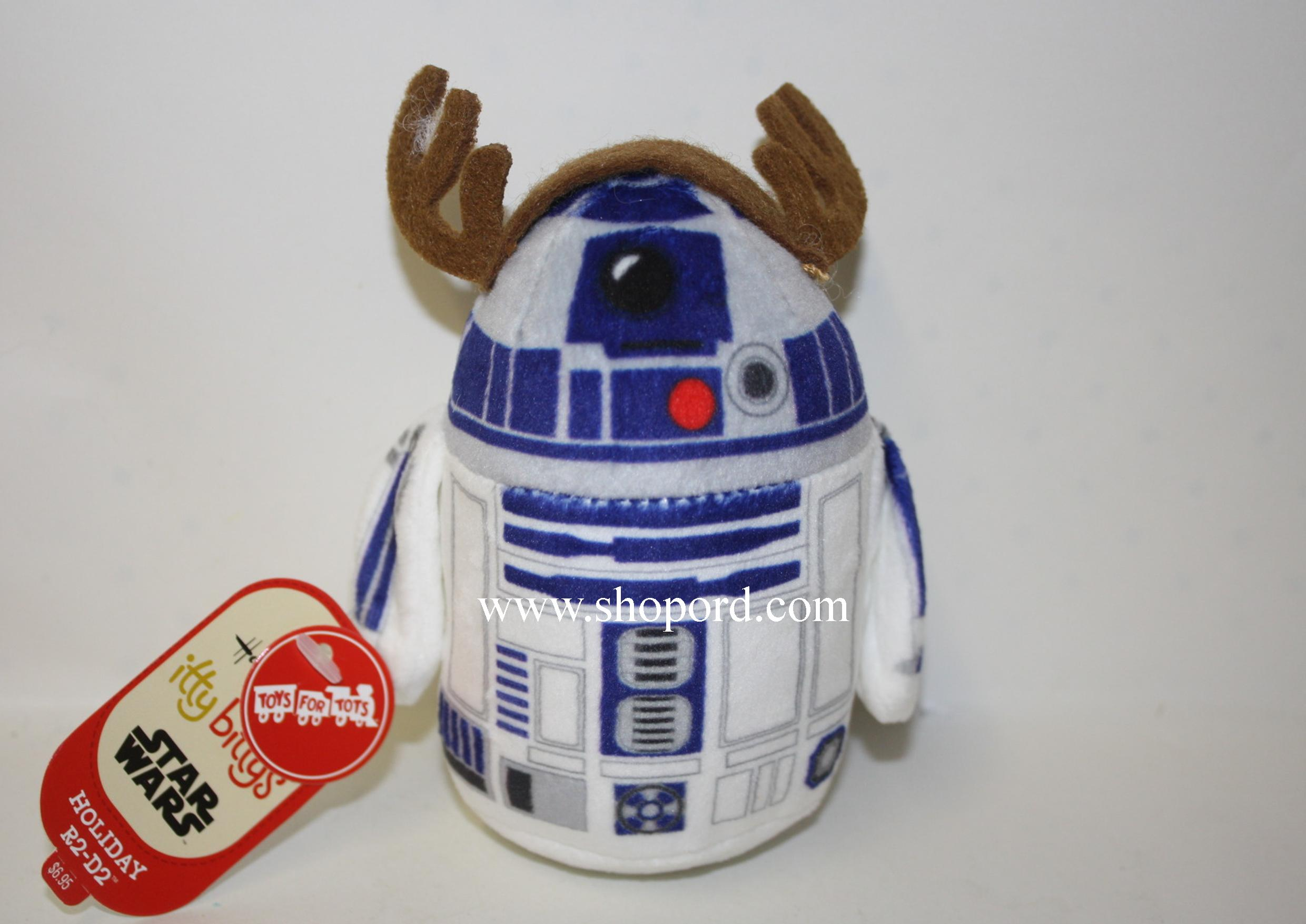Hallmark itty bitty Star Wars Holiday R2 D2 Plush Toys For Tots KID3390