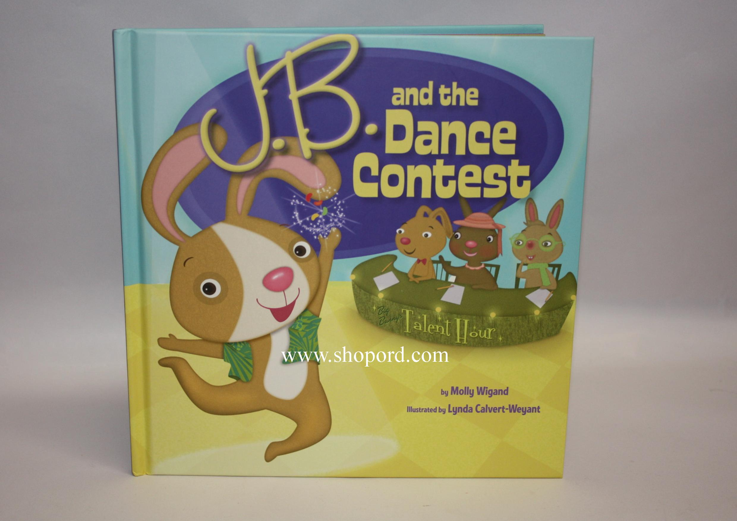 Hallmark Easter Book Jelly Bean Bunny (J.B.) and the Dance Contest Hardcover Book EWM3079